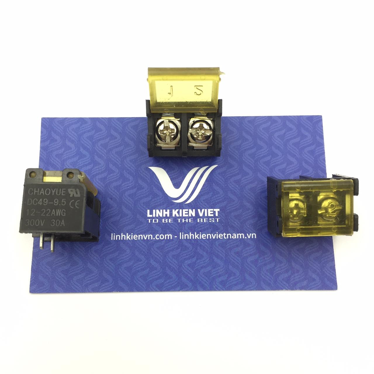 Cầu đấu terminal có nắp đậy HB9500-2P /DC49 - 9.5mm 2P- s1H8