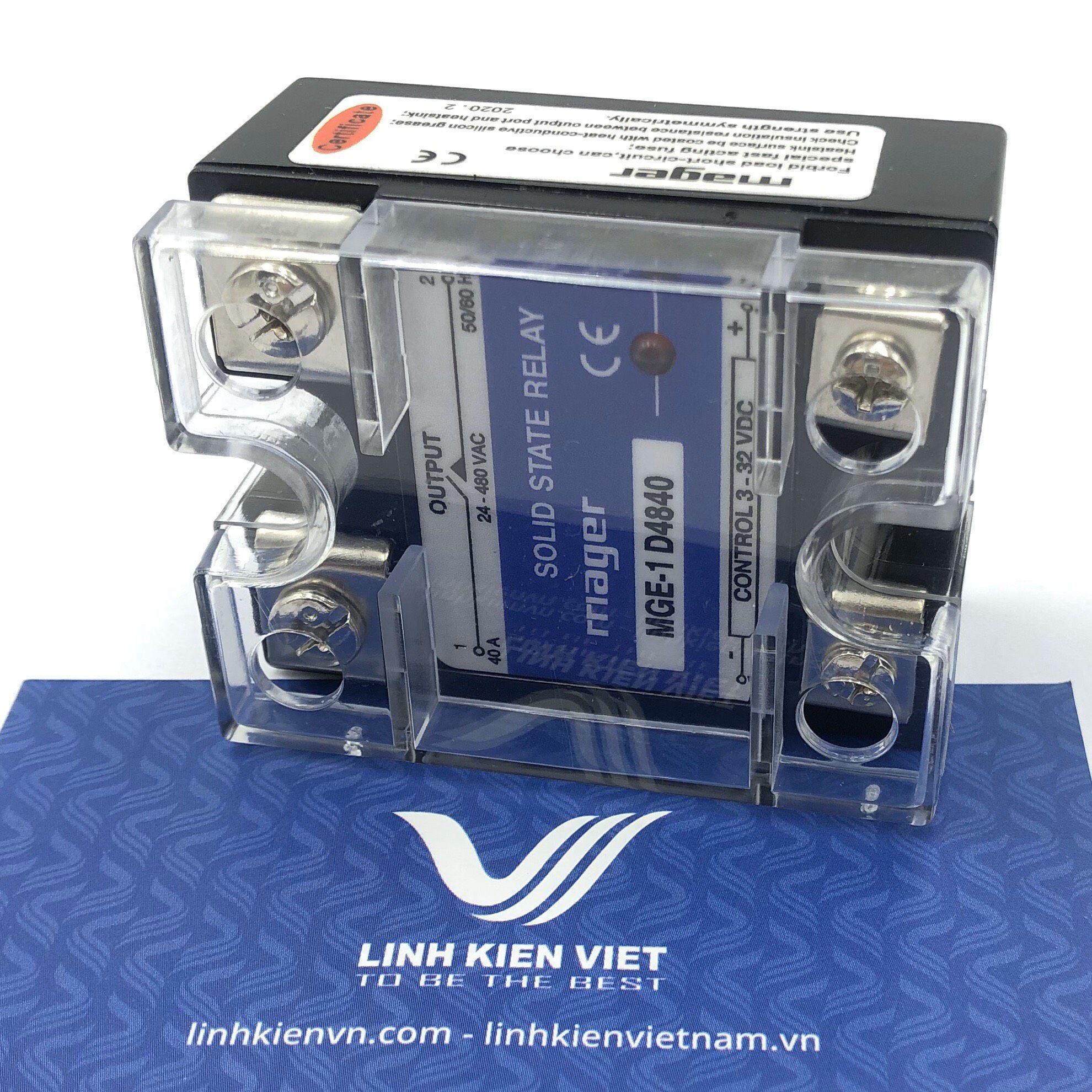 Relay bán dẫn SSR 40A Input 3 - 32VDC 480V MGR-1 D4840 - A10H13