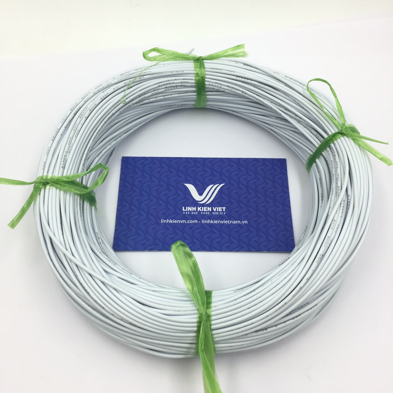 Cuộn dây điện 100m UL 1007 22AWG - màu trắng