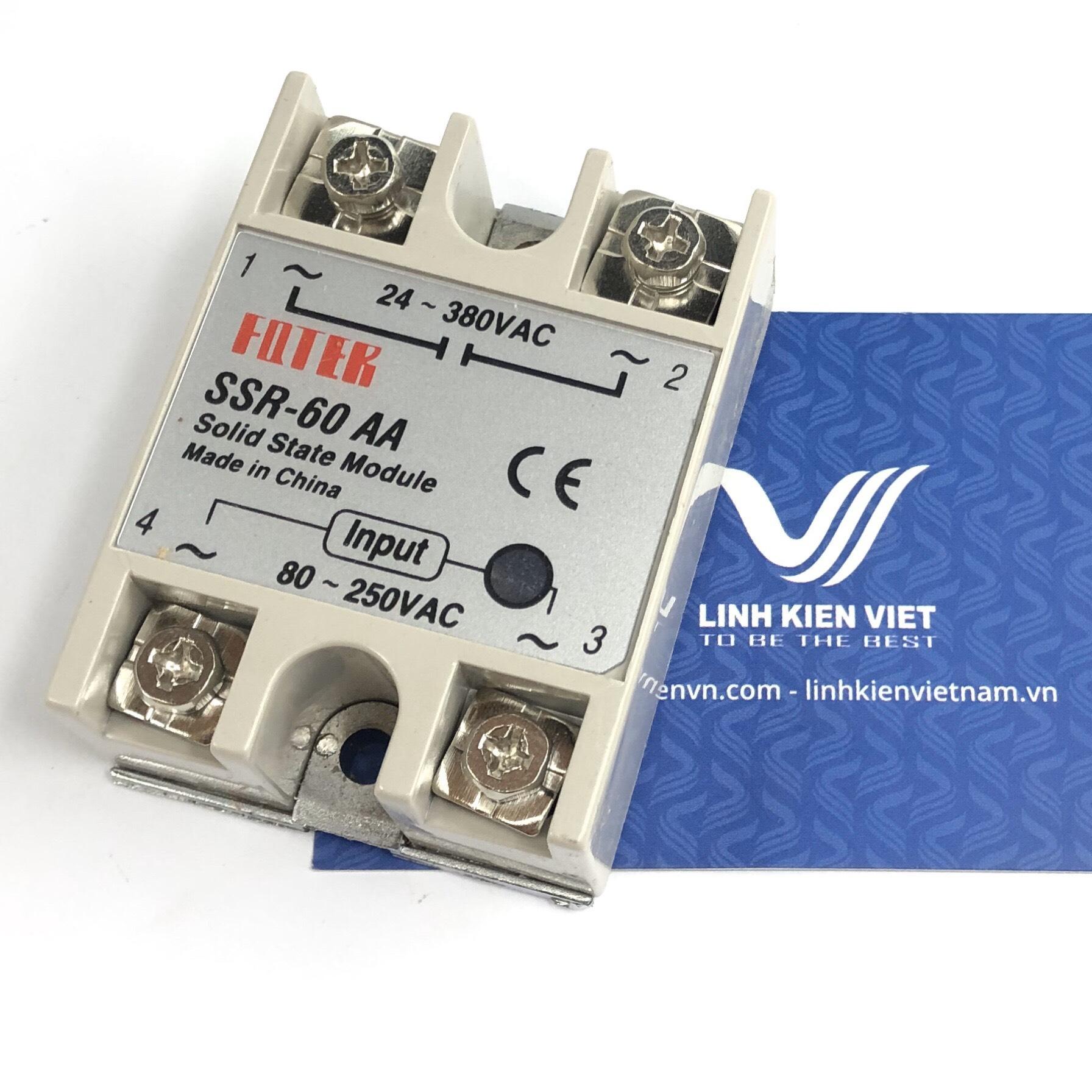 Relay bán dẫn SSR-60AA input 80-250VAC - A10H10