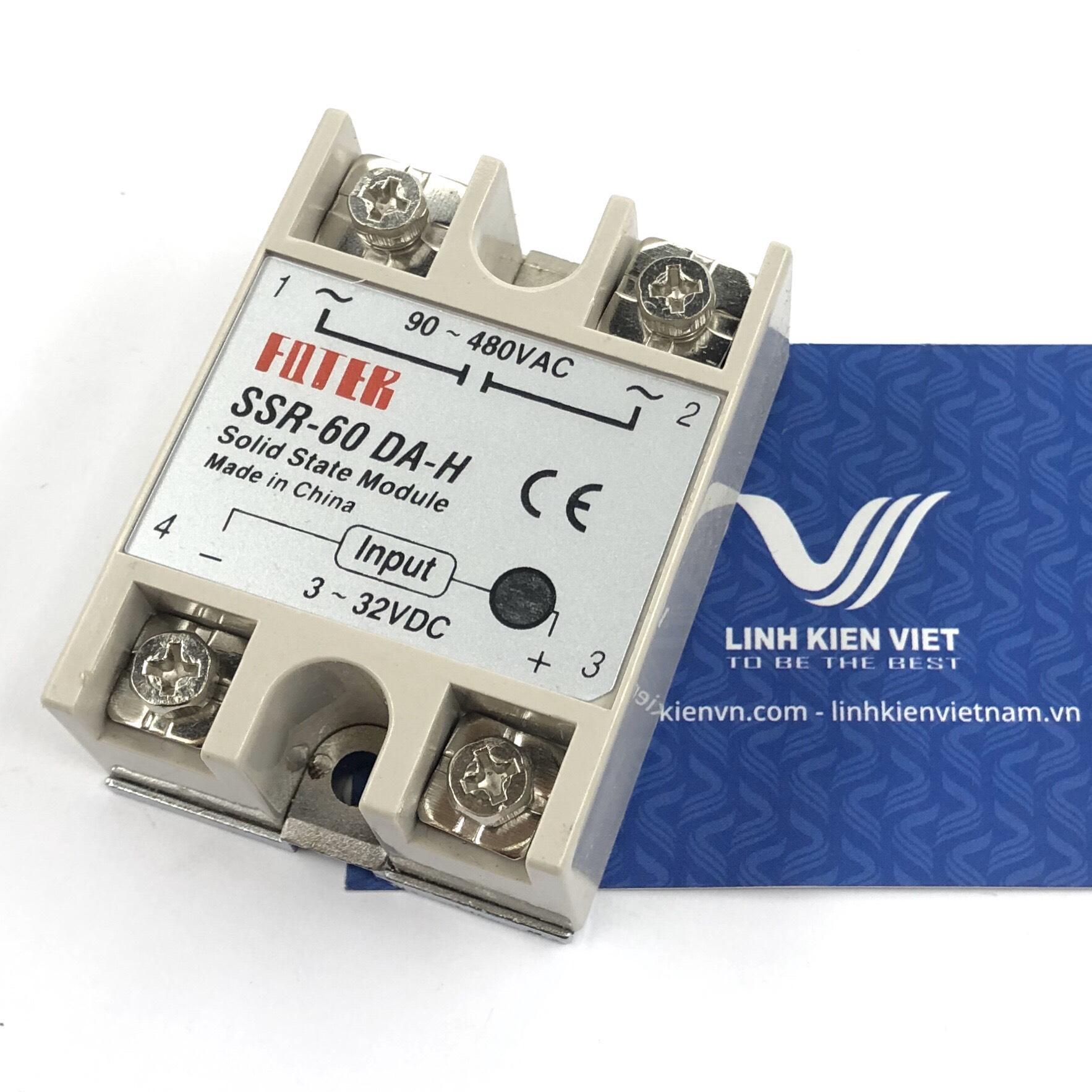 Relay bán dẫn SSR-60DA-H input 3-32VDC - A10H17