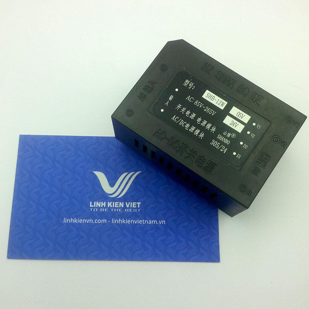Nguồn AC-DC hàn mạch SHB-12W 5V 24V đầu vào 220V- K1H17