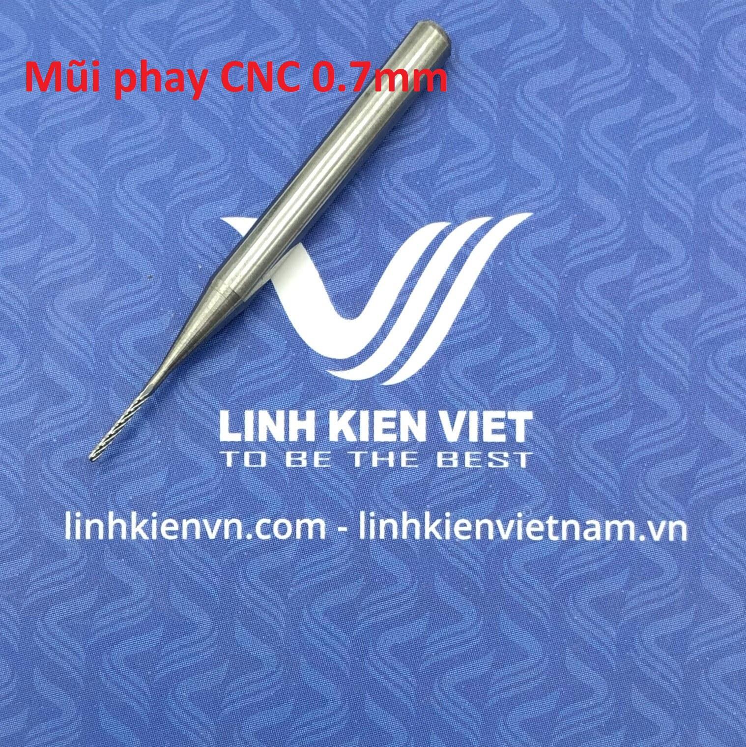 Mũi phay CNC 0.7mm - S2H22