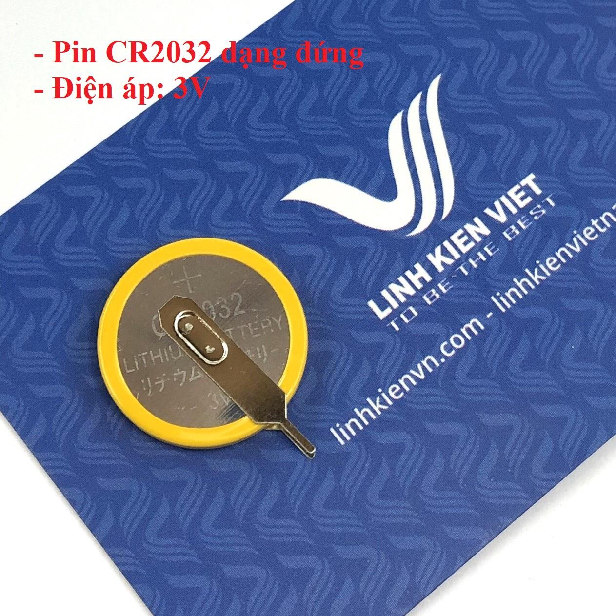 Pin CR2032 3V dạng cắm đứng - i2H23
