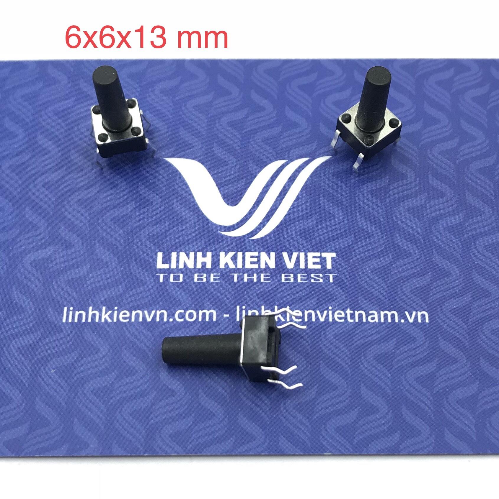 Nút nhấn 4 chân 6x6x13 mm cắm - J5H21