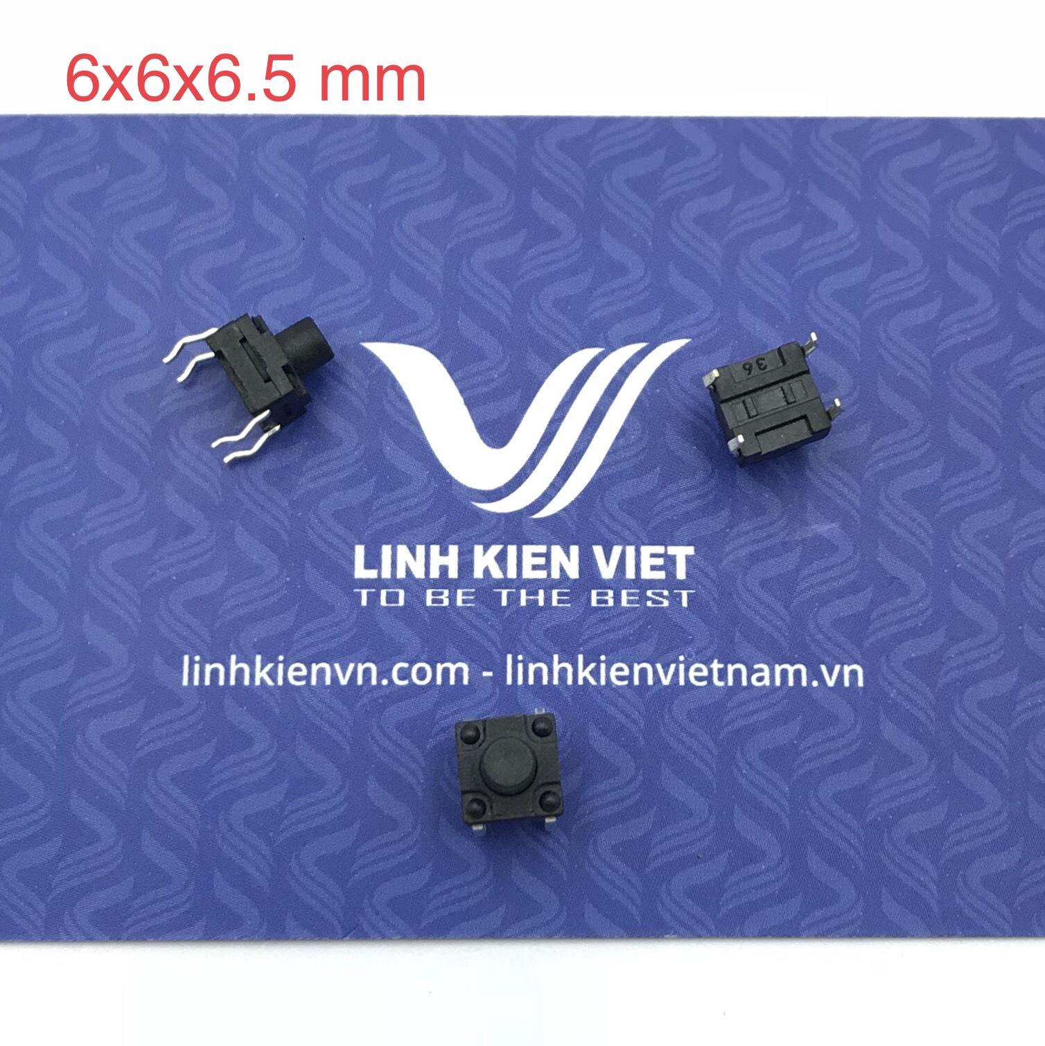 Nút nhấn 4 chân 6x6x6.5 mm cắm loại tốt - J4H23