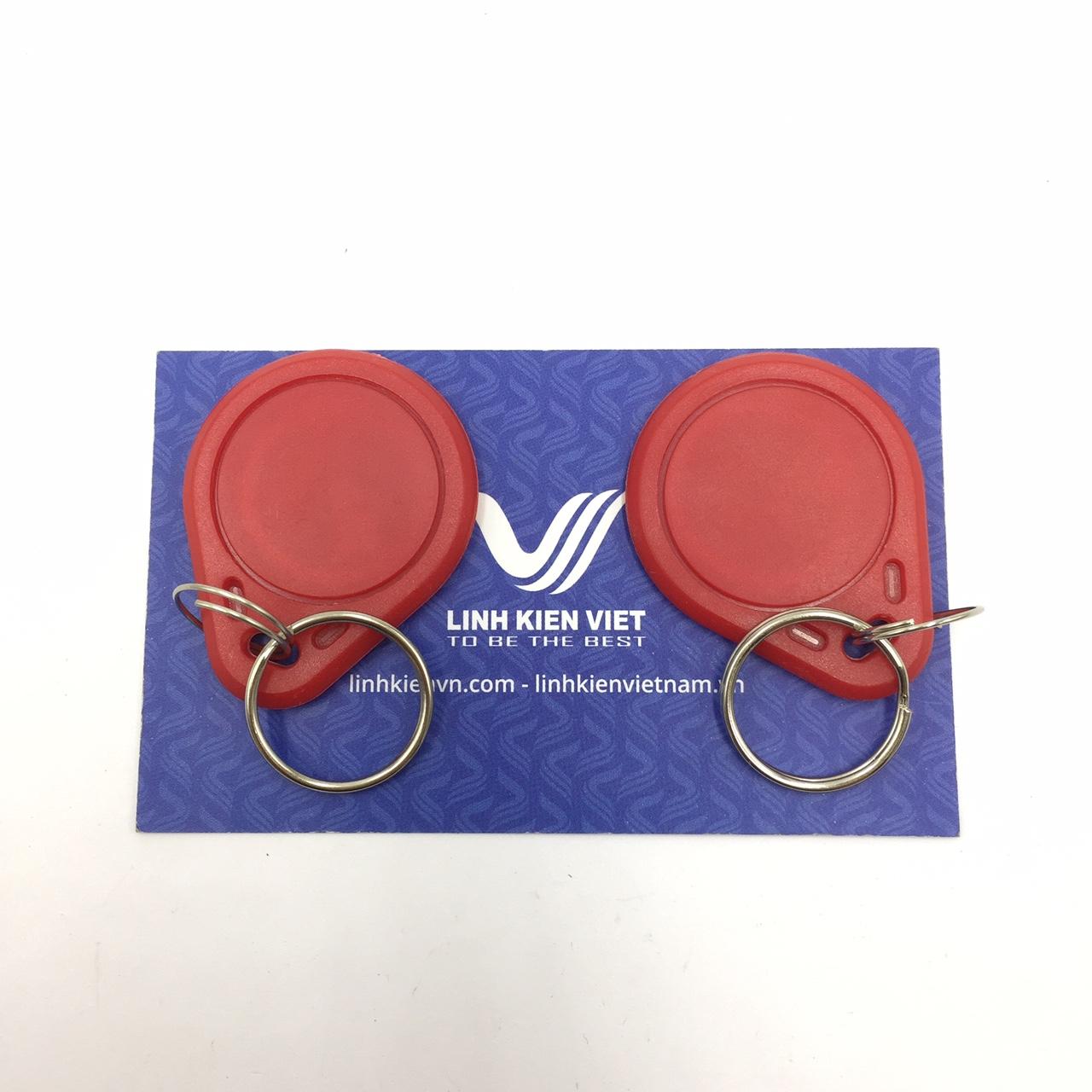 Thẻ từ RFID IC M1 13.56Mhz màu đỏ - Loại móc khóa - S3H3