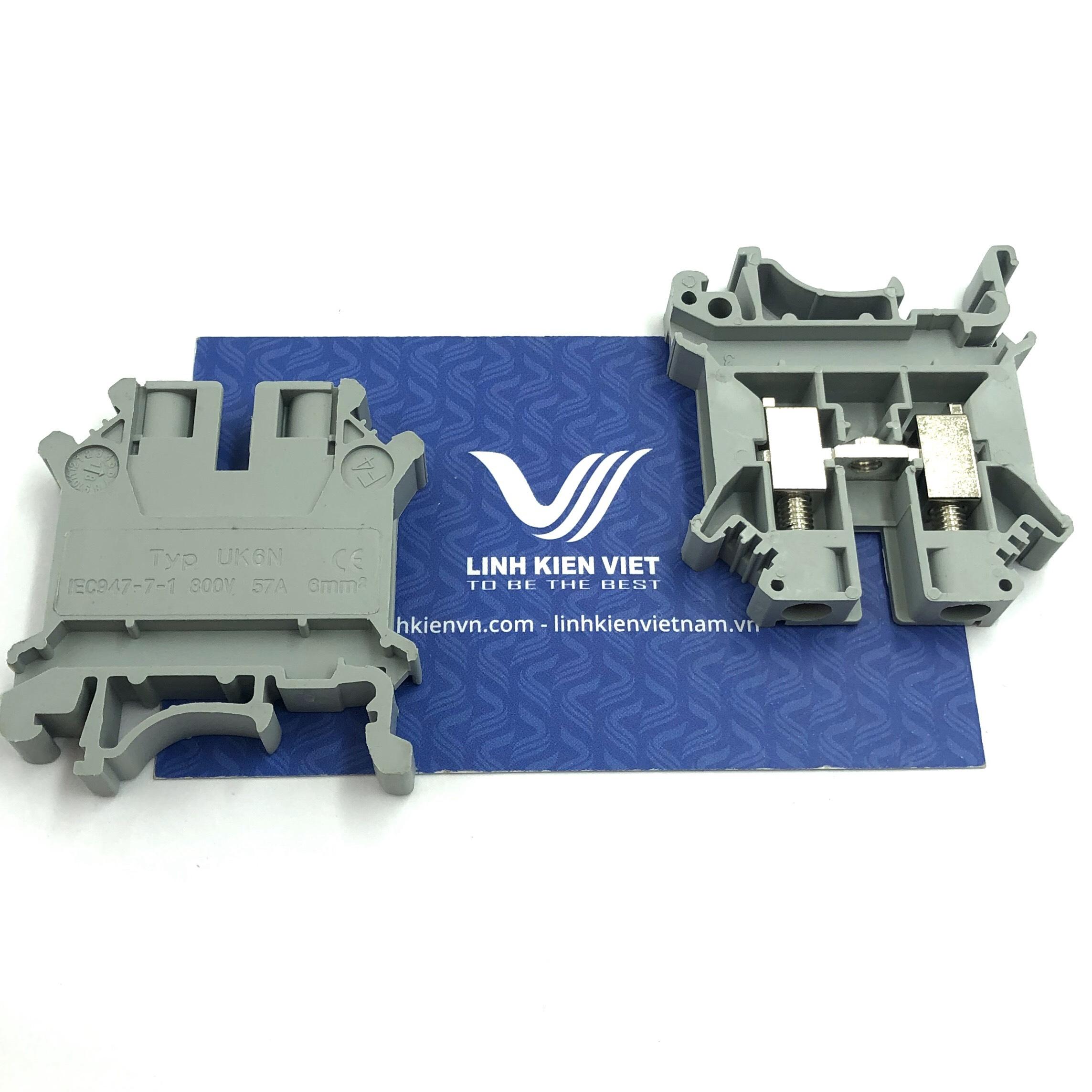 Cầu đấu dây đơn UK6N 300V 57A  - X3H24