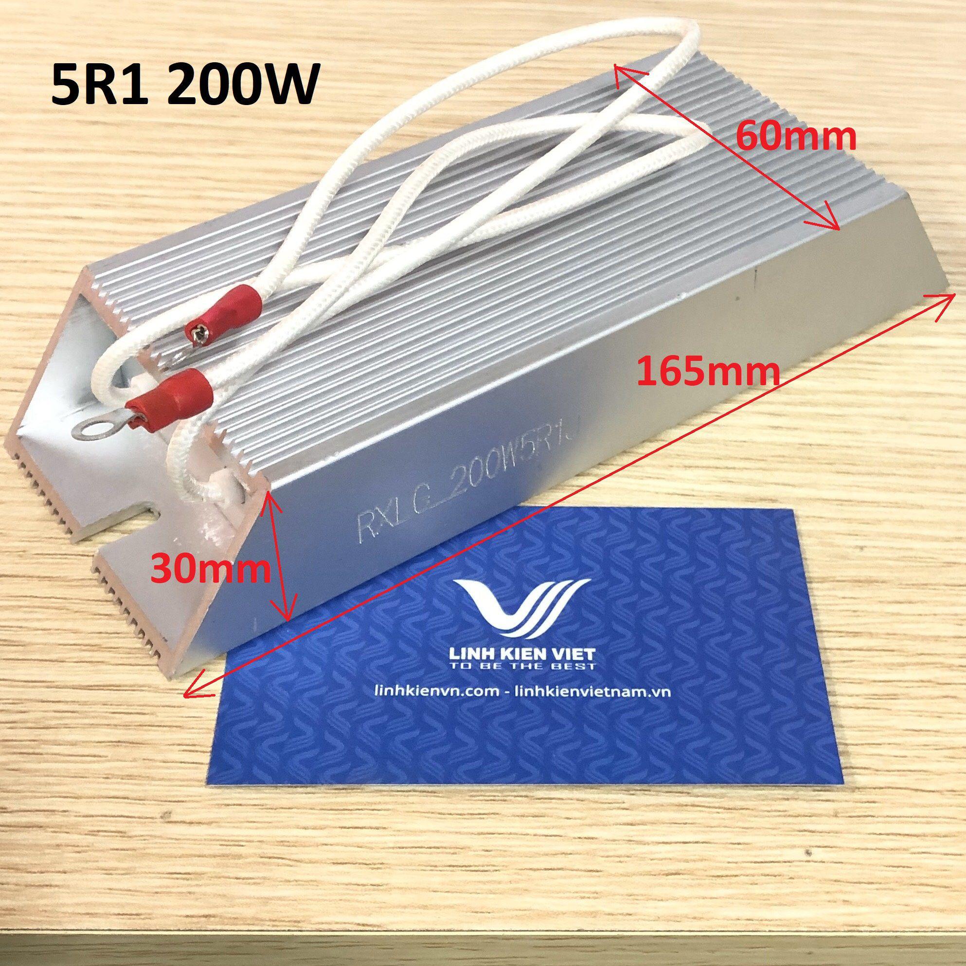 Điện Trở Xả Vỏ Nhôm 200W 5.1R RXLG200-5R1
