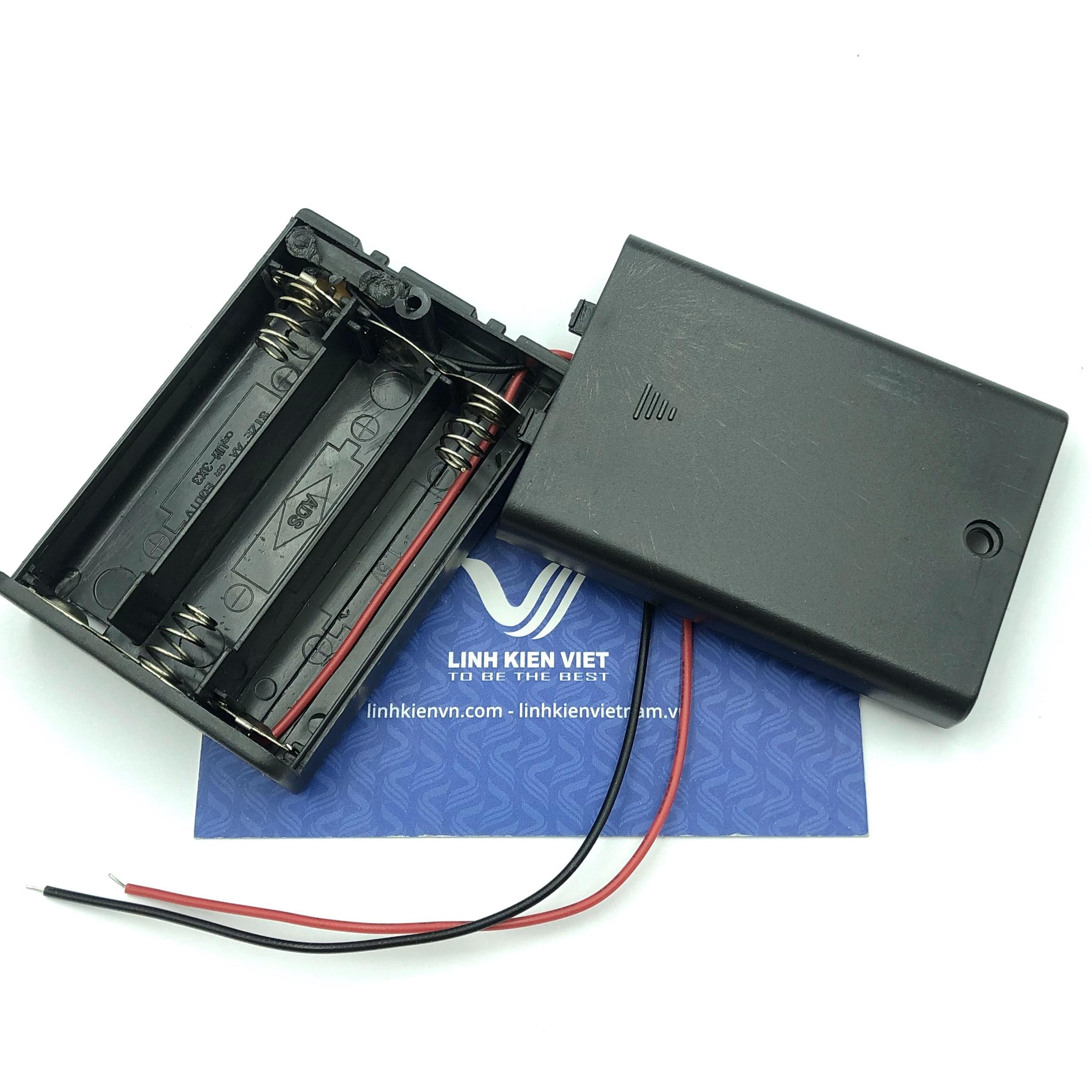 Đế pin AA 3 pin có công tắc gạt - X3H22