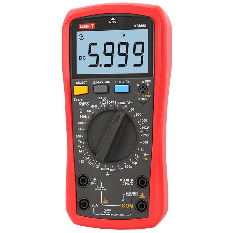 Đồng hồ UNI-T UT890C / Đồng hồ vạn năng UNI-T UT890C / có đo nhiệt độ, điện dung, tần số