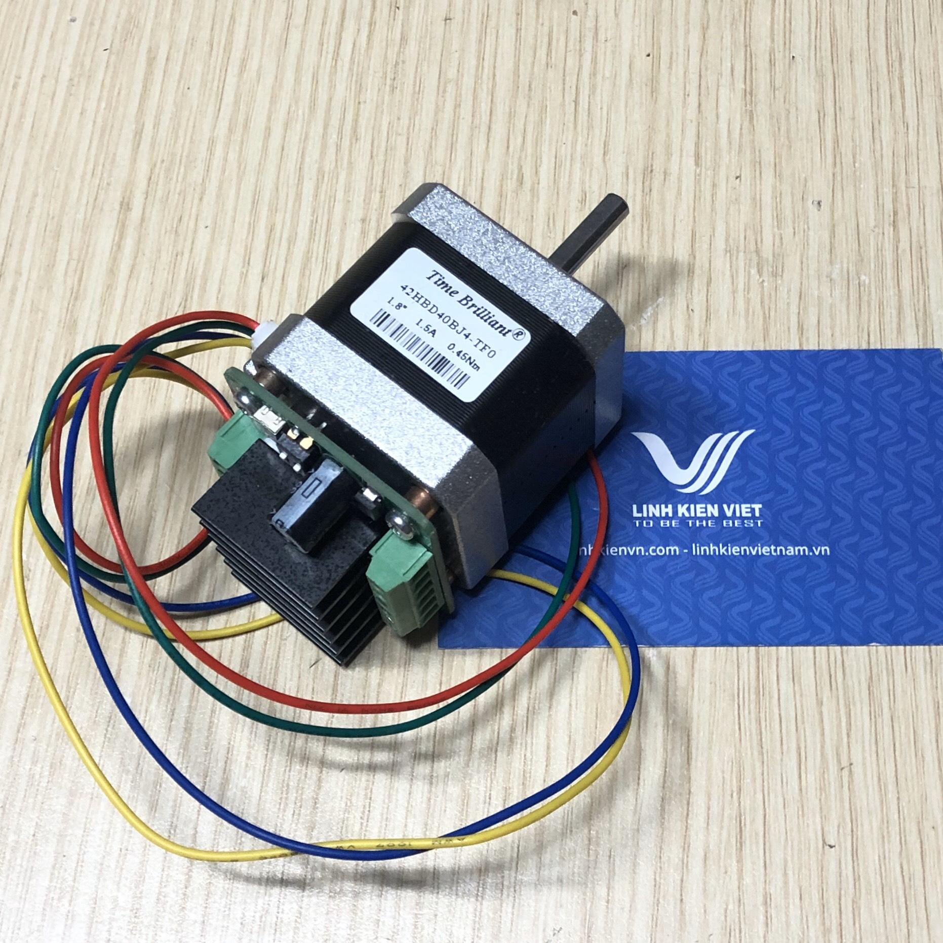 Động cơ bước 42HBD40BJ4 1.5A 0.45NM kèm driver điều khiển
