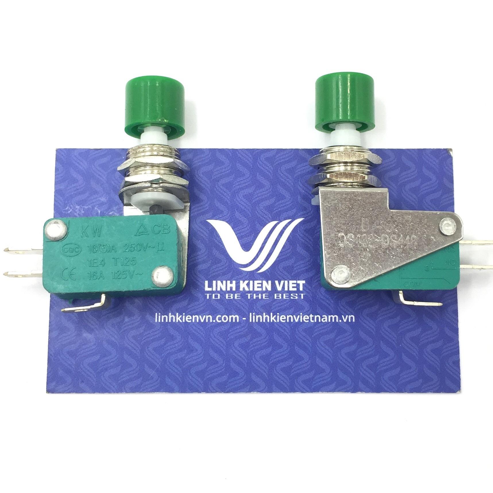 Công tắc hành trình nút nhấn DS438-448 màu xanh 12mm / X5H14