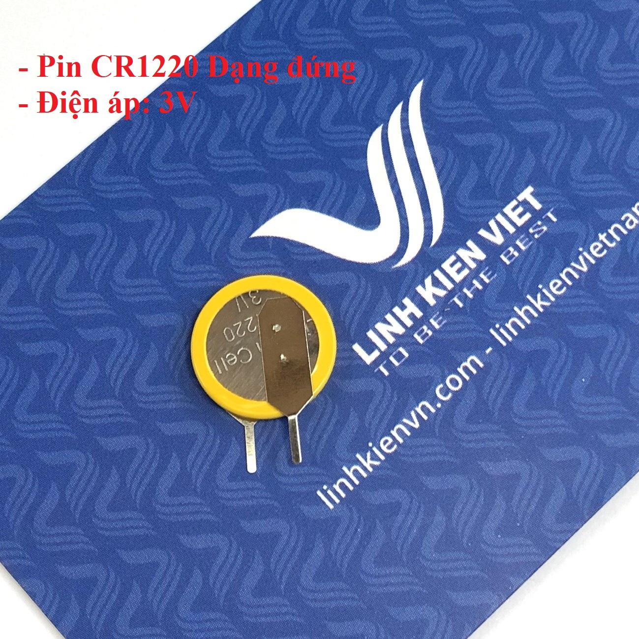 Pin CR1220 3V dạng cắm đứng - i4H23