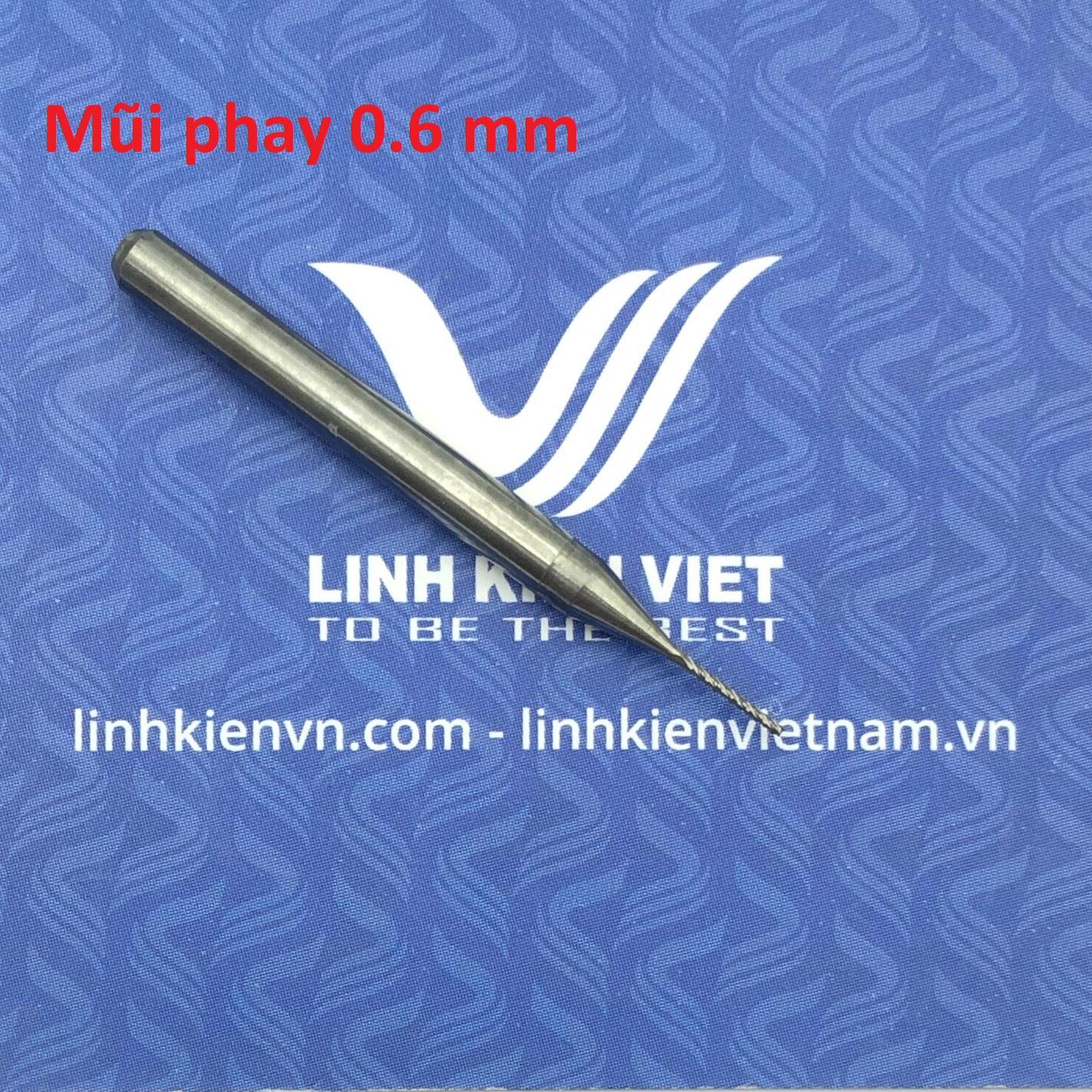 Mũi phay CNC 0.6mm - S2H22