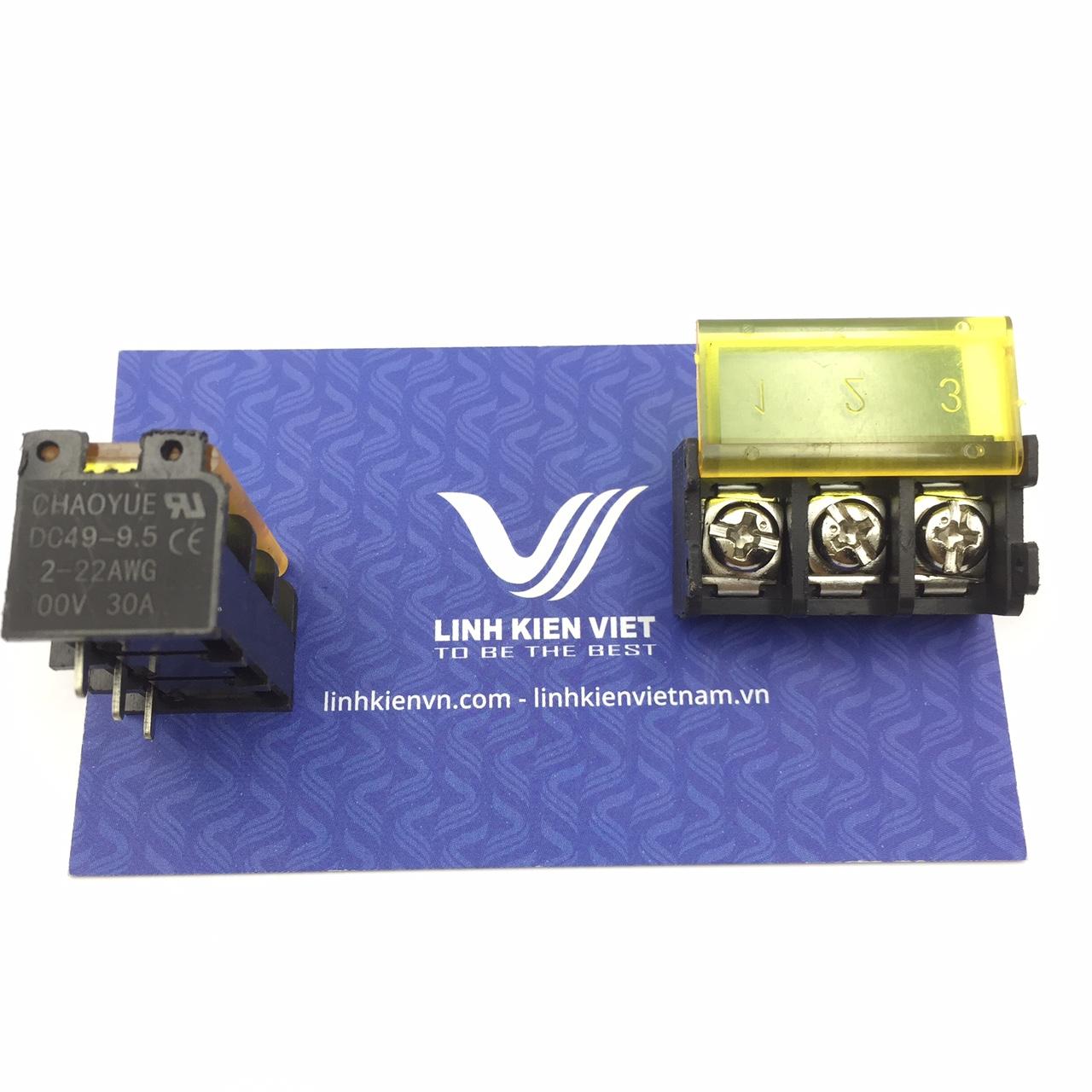 Cầu đấu terminal có nắp đậy HB9500-3P /DC49 - 9.5mm 3P s1H9