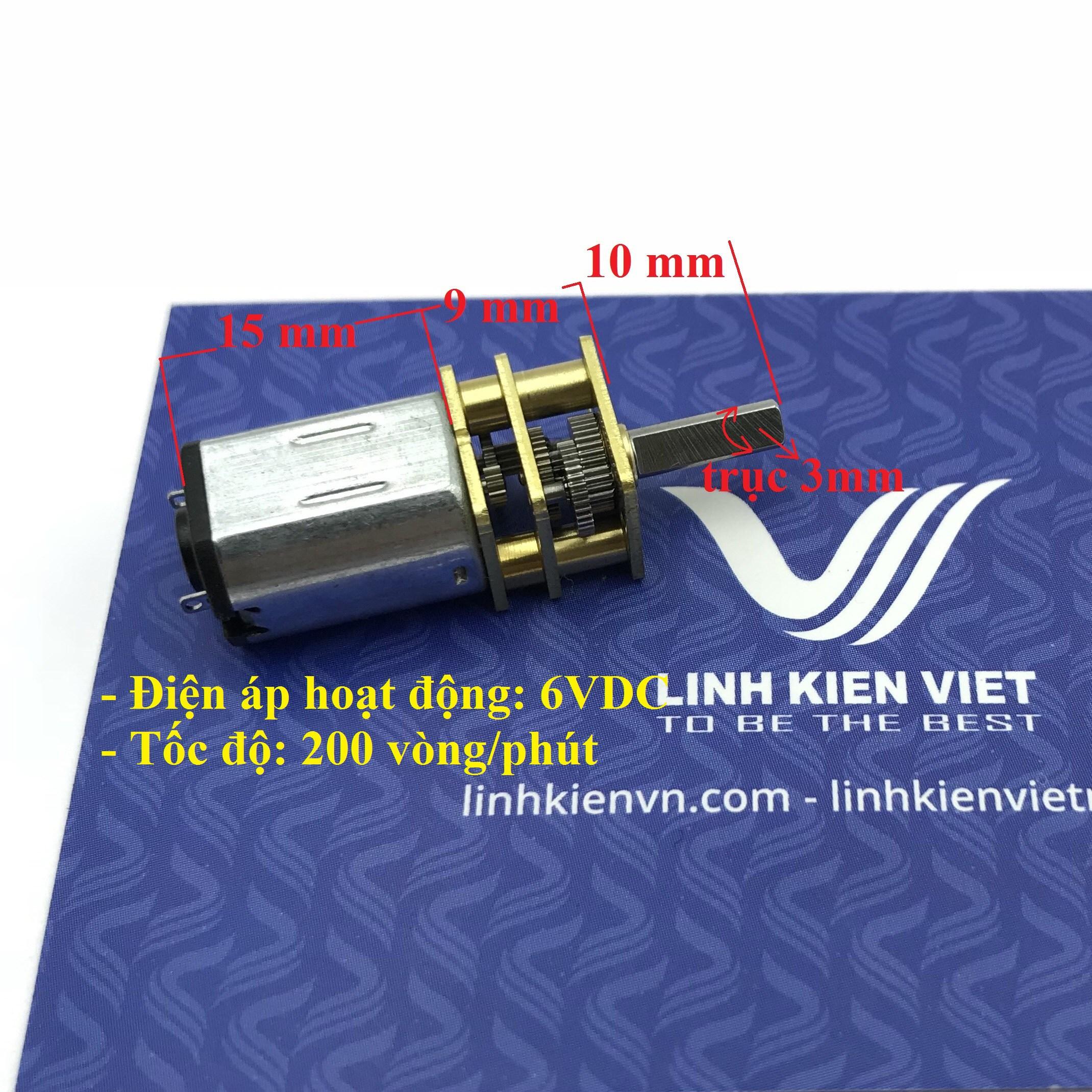 Động cơ giảm tốc GA12-N20 6V 200 vòng/phút - I7H1