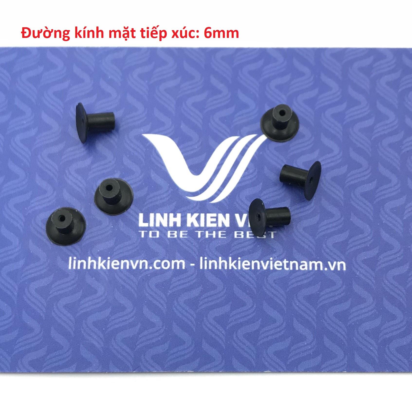 Giác hút chân không 6mm / đầu cao su cho máy hút chân không 6mm - K4H25