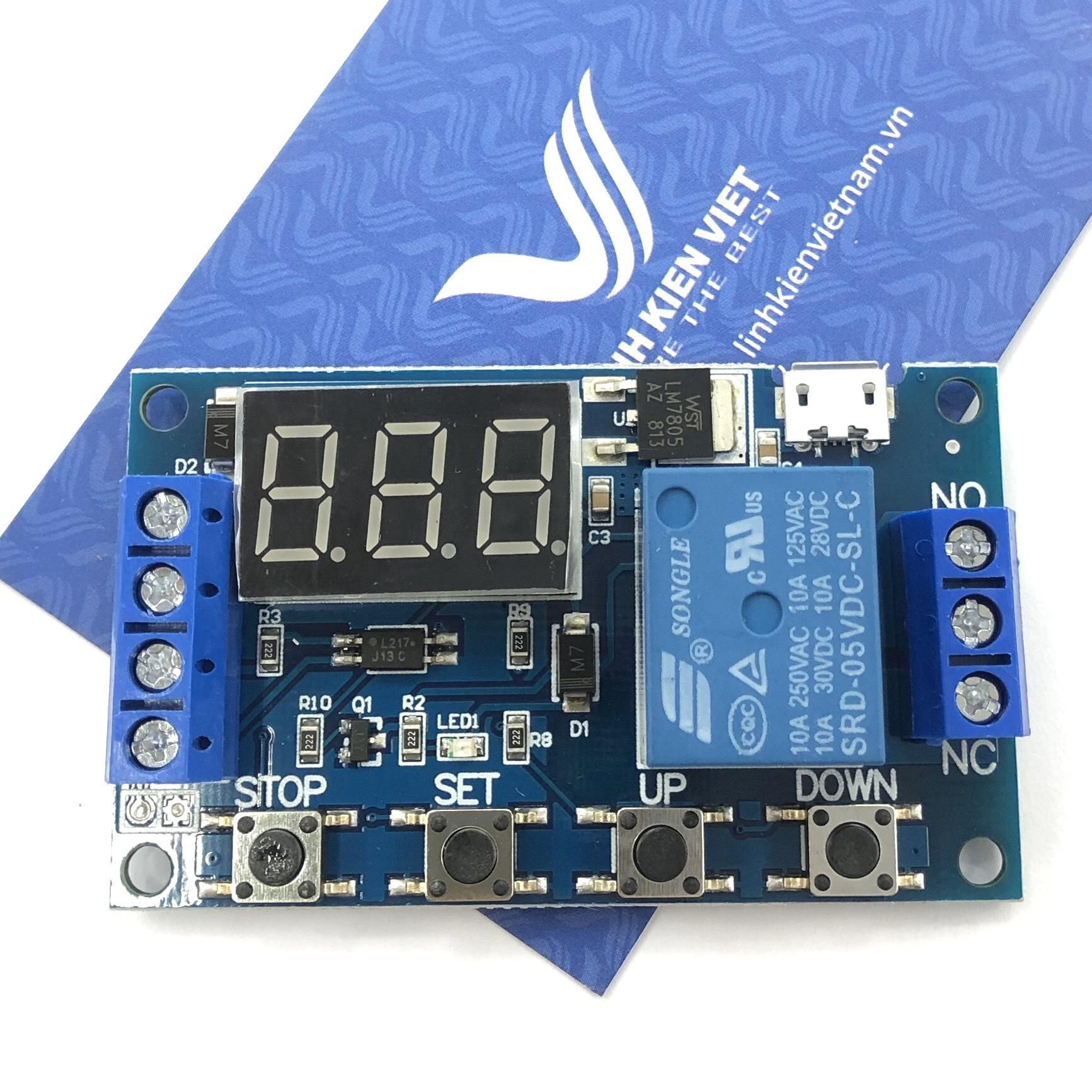 Mạch tạo trễ đóng ngắt nhiều chế độ JZ-801 / Module delay nhiều chức năng - i6H21