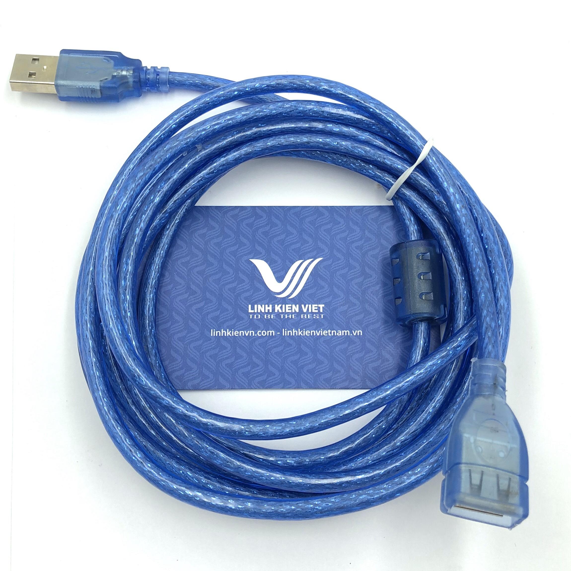 Dây cáp USB ĐỰC - CÁI dài 3 mét / Cáp usb một đầu đực một đầu cái