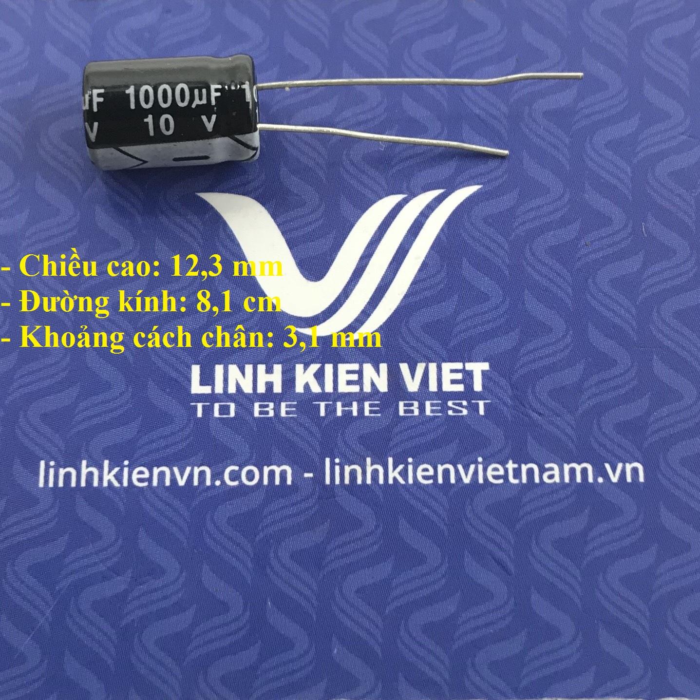 Tụ hóa 1000uF - 10V / G6H18