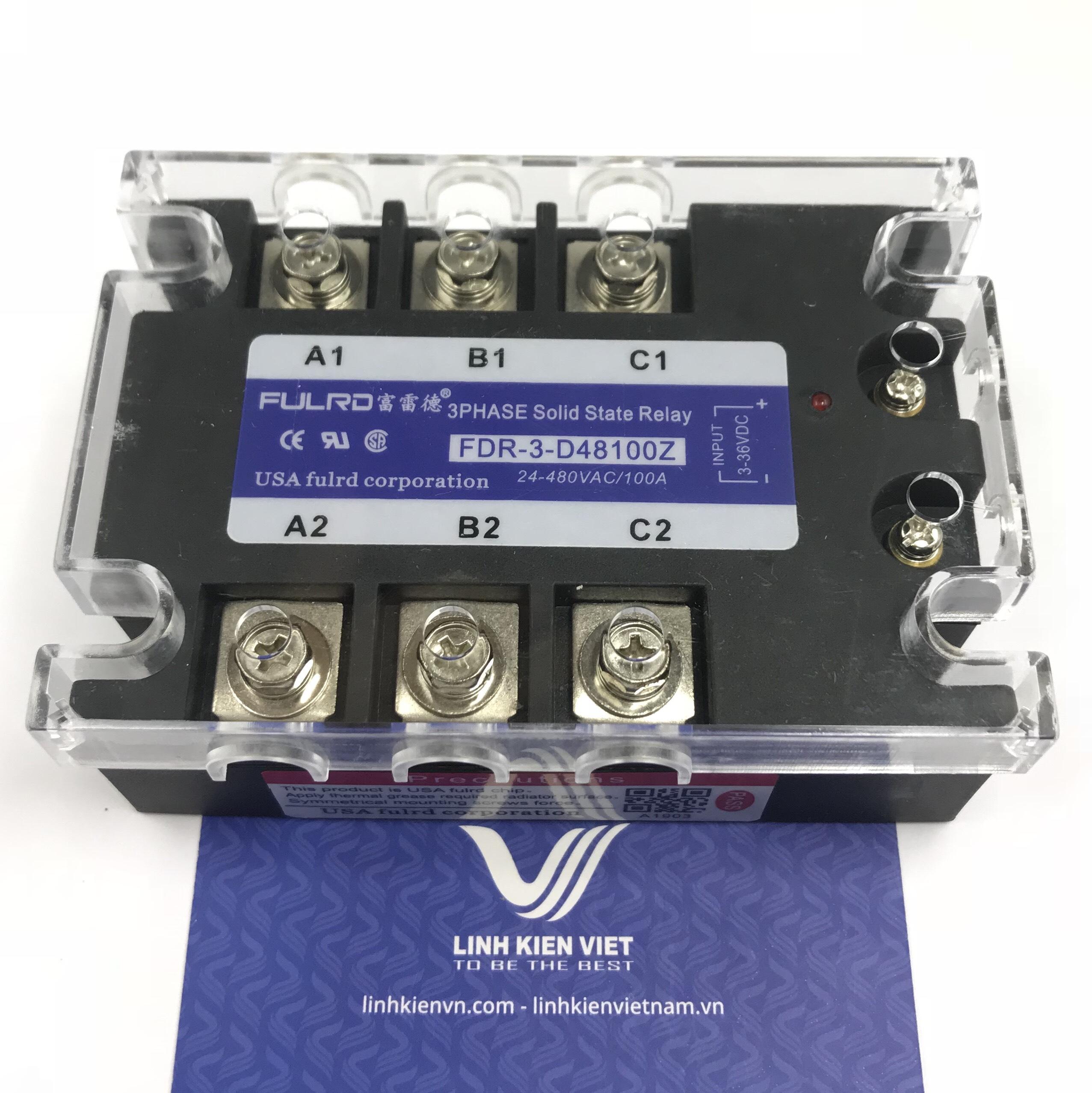 Relay bán dẫn 3 pha SSR 100A FDR3-D48100Z