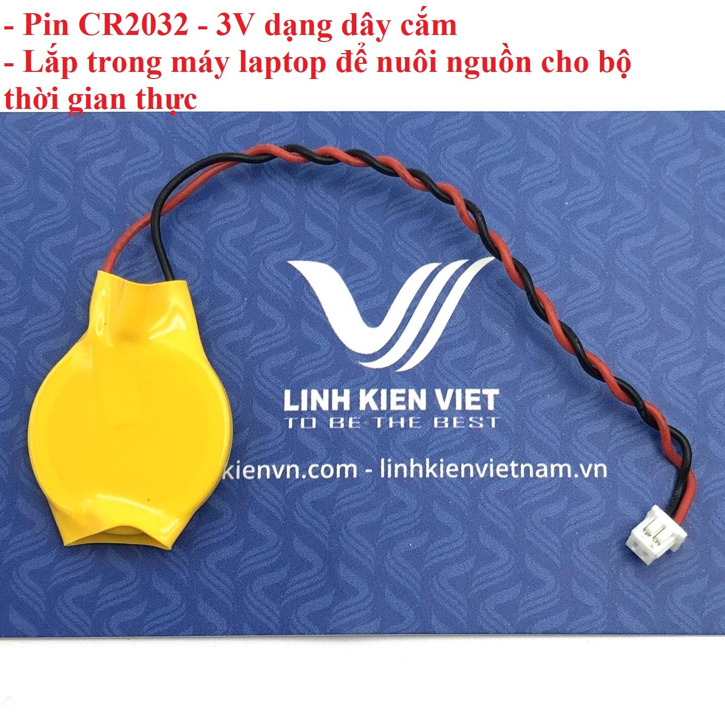 Pin CR2032 3V dạng dây cắm - i2H21