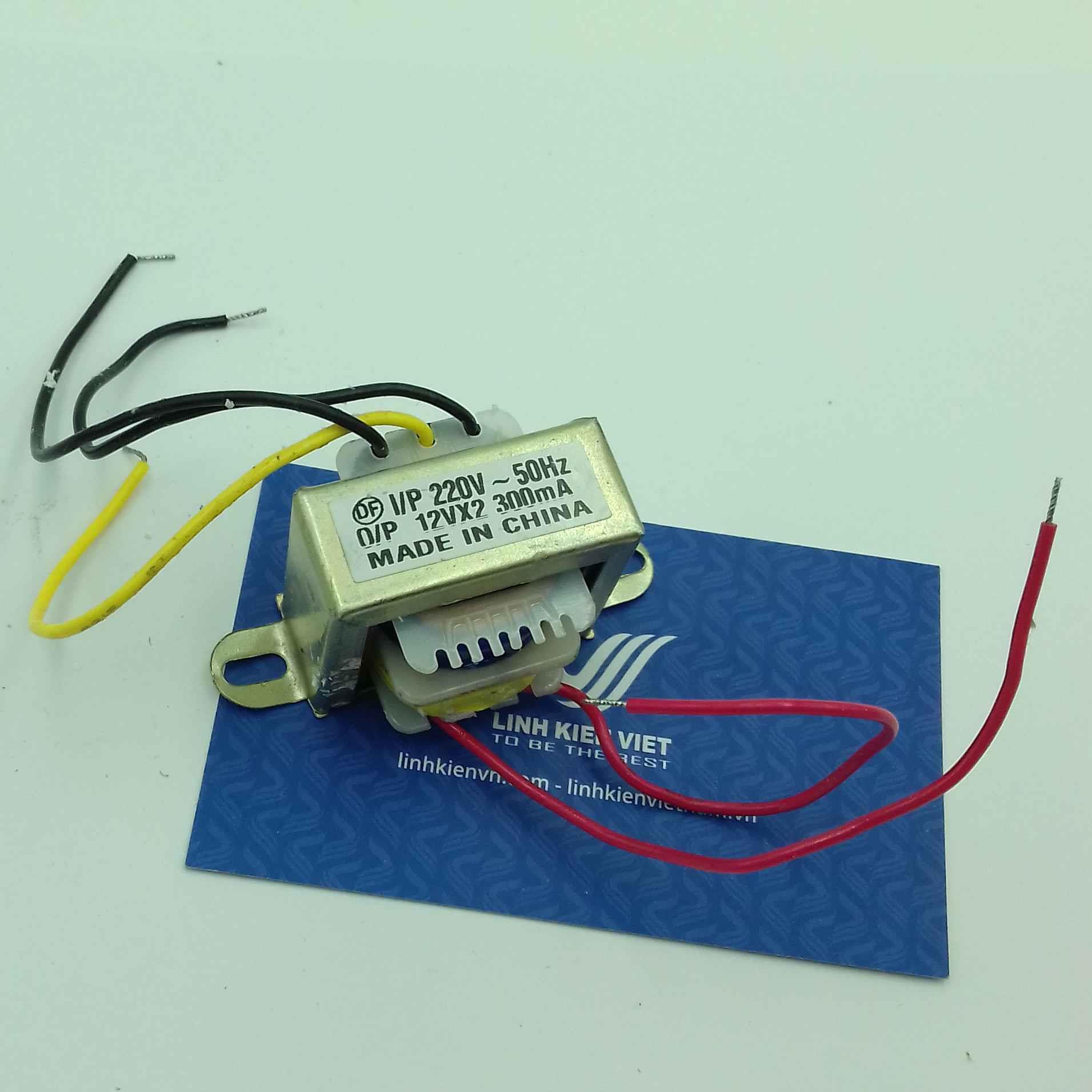 Biến áp đối xứng 12V 300mA / Biến áp 12V 0 12V- J3H15