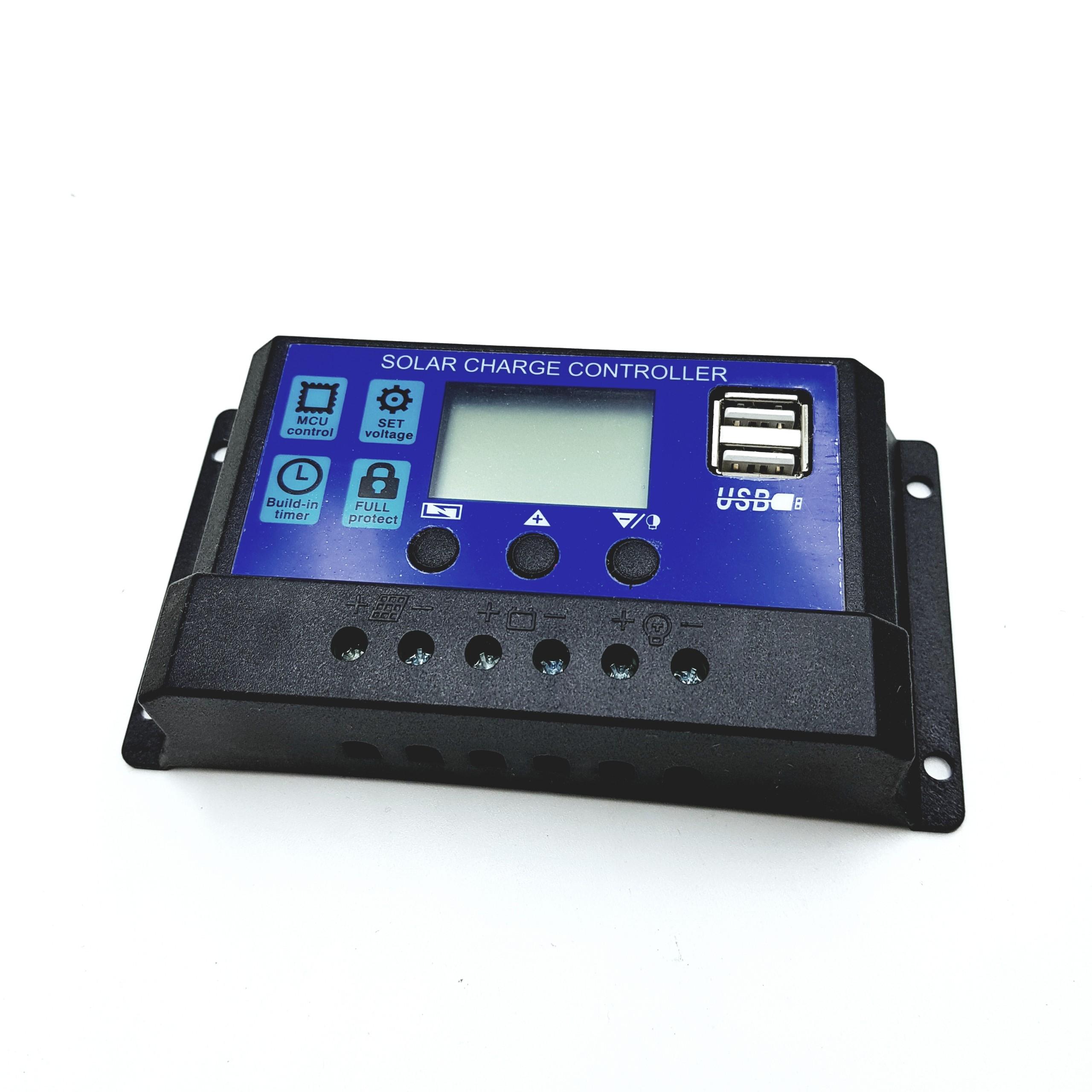 Bộ điều khiển sạc năng lượng mặt trời 10A tự động nhận bình 12V 24V