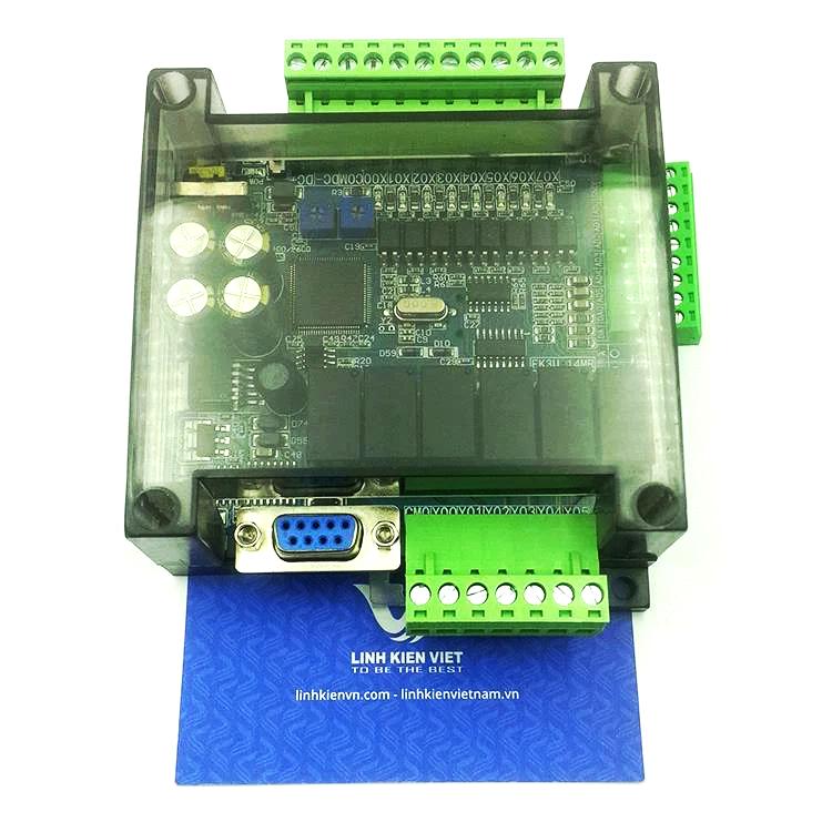 BO MẠCH PLC FX3U-14MR có vỏ tích hợp 6AD 2DA - KHO B