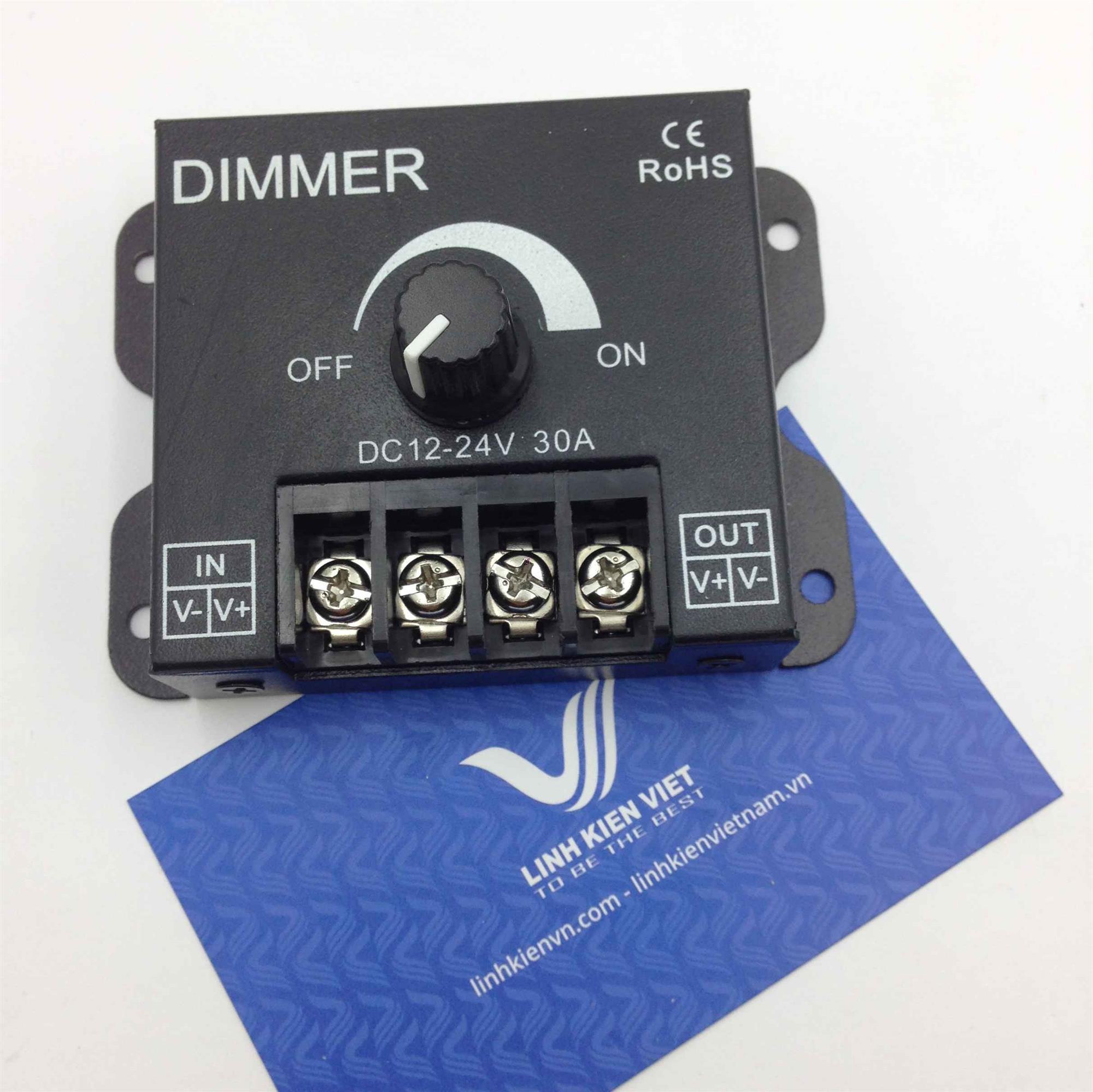 Bộ điều khiển tốc độ động cơ pwm 12V-24V 30A / DIMMER 12-24V 30A(KA11H2)