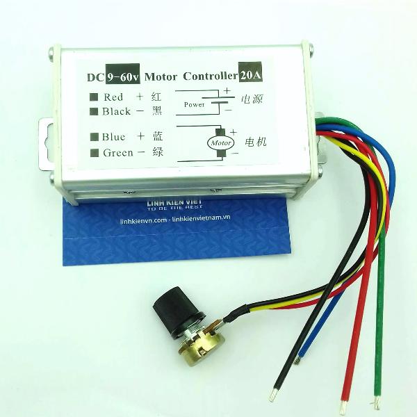 Bộ điều khiển tốc độ động cơ pwm 20A 9-60V DC