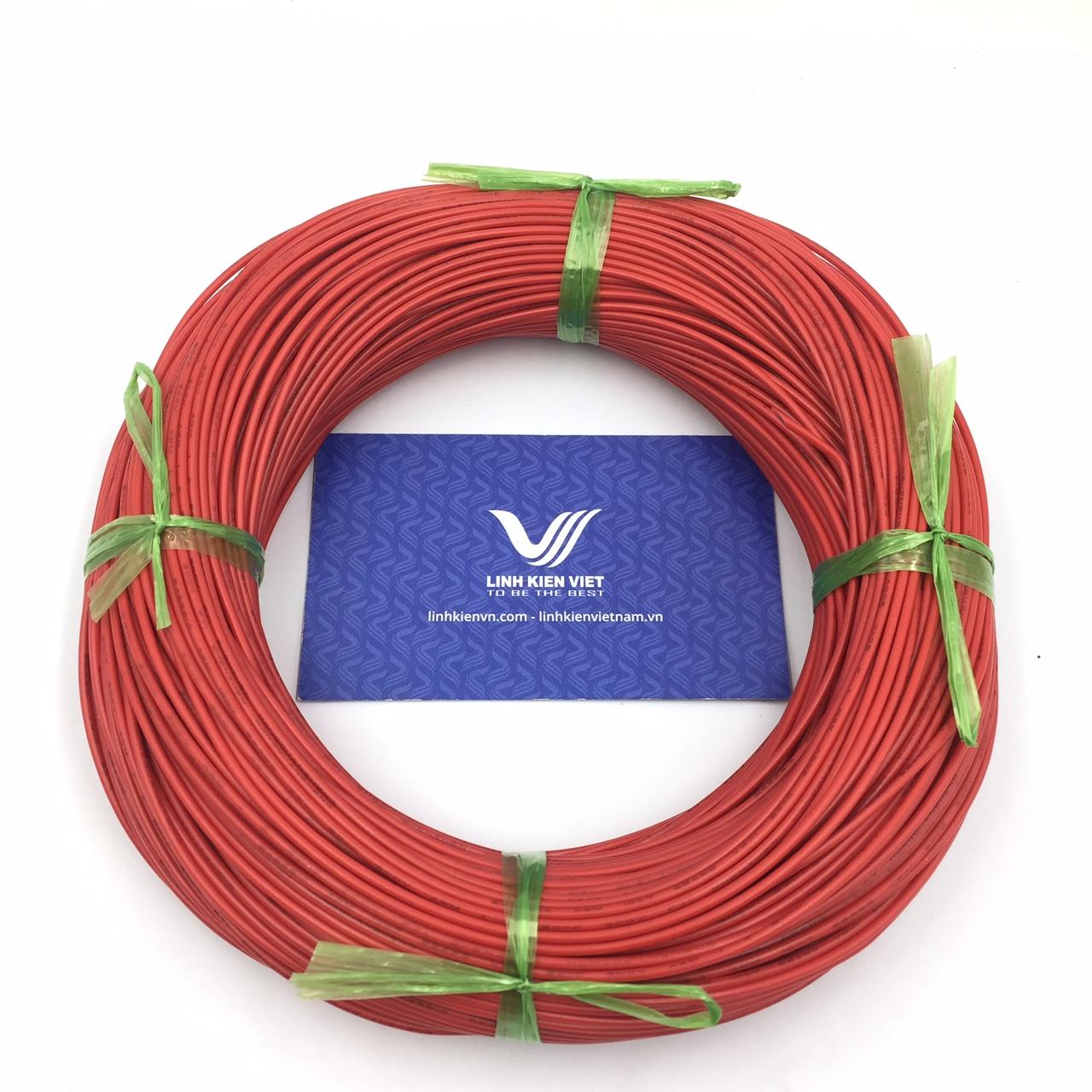 Cuộn dây điện 100m UL 1007 22AWG - màu đỏ
