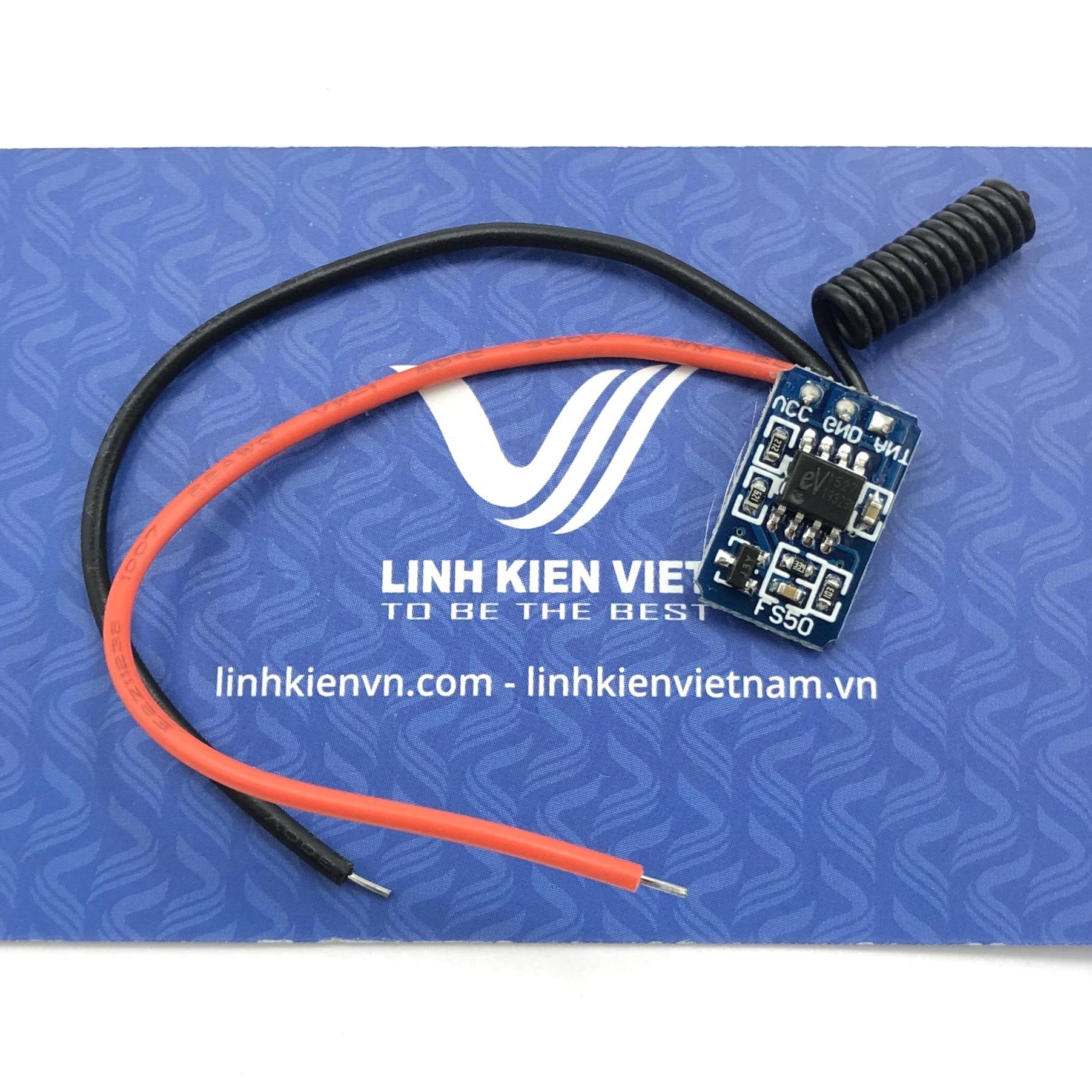 Module phát RF 433MHZ 1 kênh tự phát chip EV1527 - S4H23
