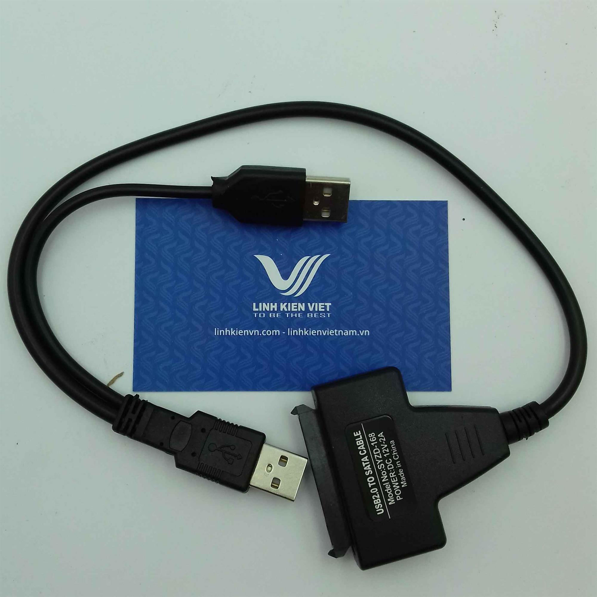 CAP USB to sata không cần cấp nguồn / Dây usb 2.0 to sata / dây chuyển đổi usb thành sata (KA7H1)