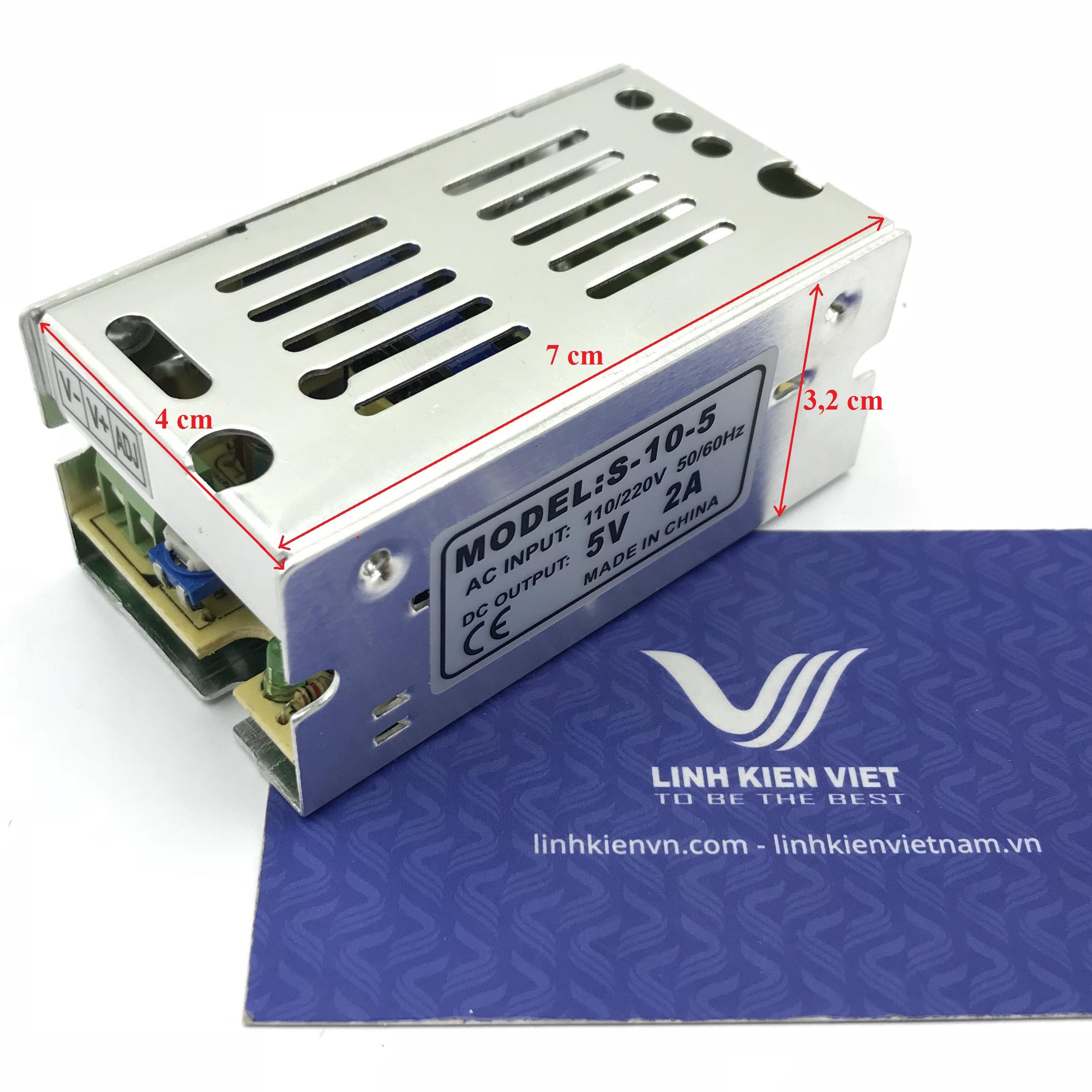 Nguồn tổ ong 5V 2A 70x40x32mm - X3H6