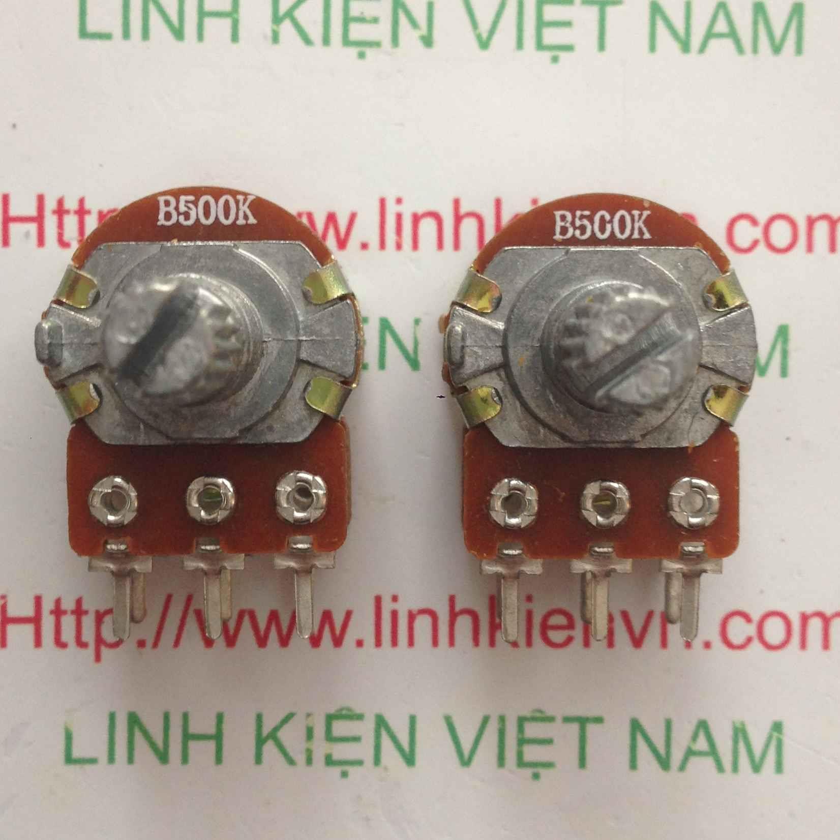 CHIẾT ÁP ĐÔI 500K | BIẾN TRỞ ĐÔI 500K WH148-2 15mm - A5H11
