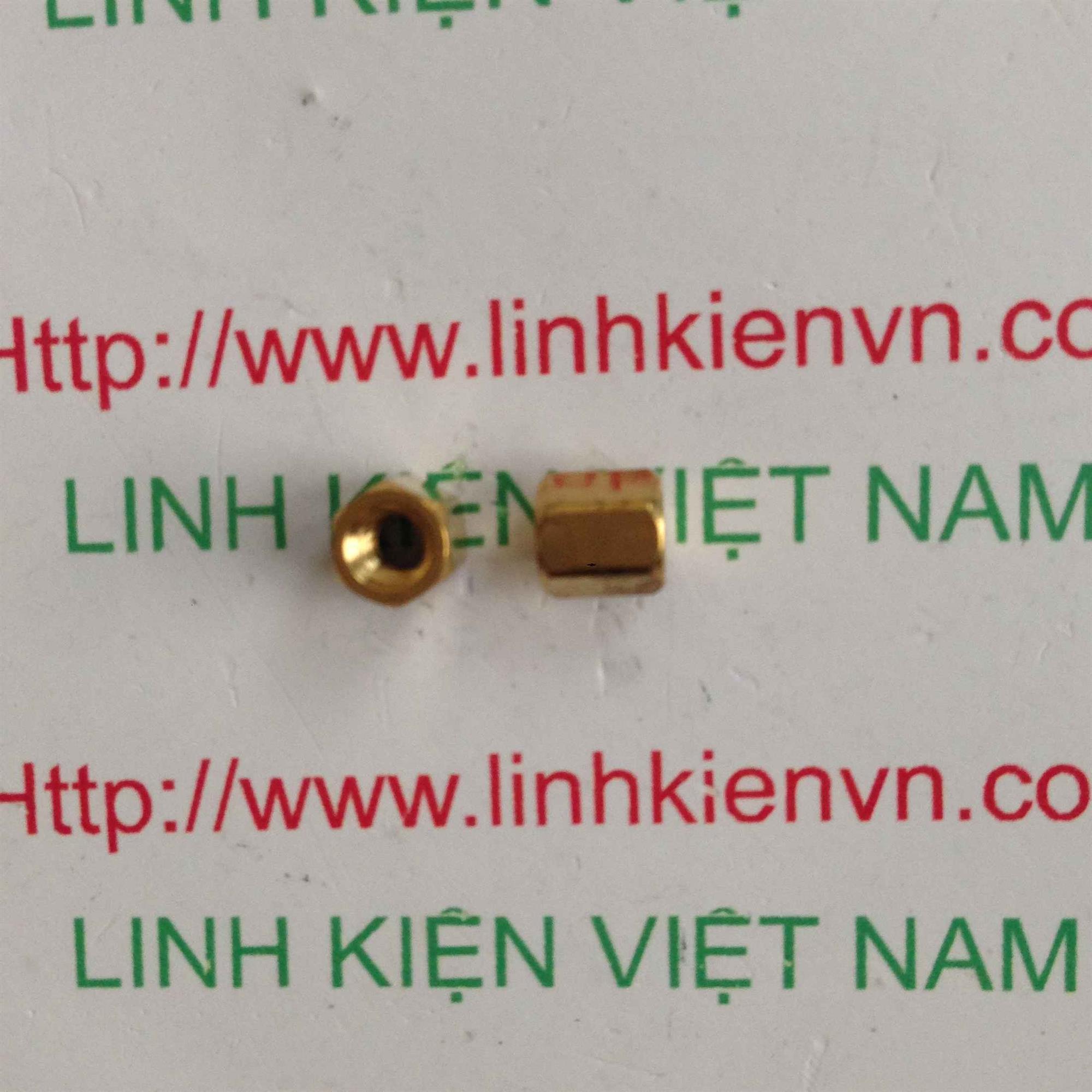 cọc đồng M3x5mm cái-cái - i2H19 (KA2H4)