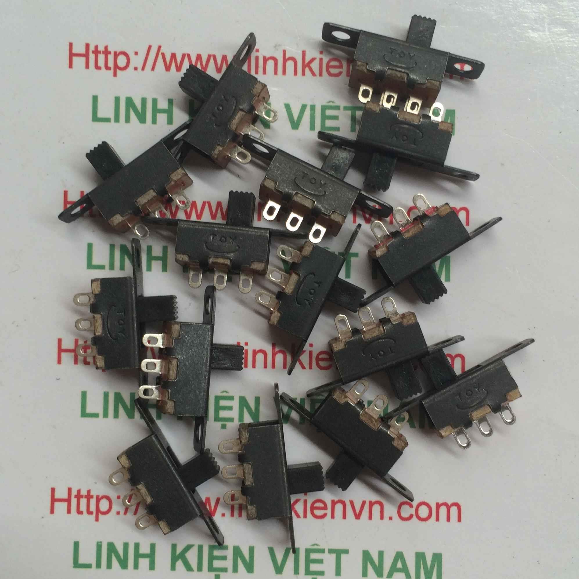 Công tắc gạt 3P 2.54mm/ Công tắc gạt 3 pin SS12F15(1P2T) h=4mm - D3H5