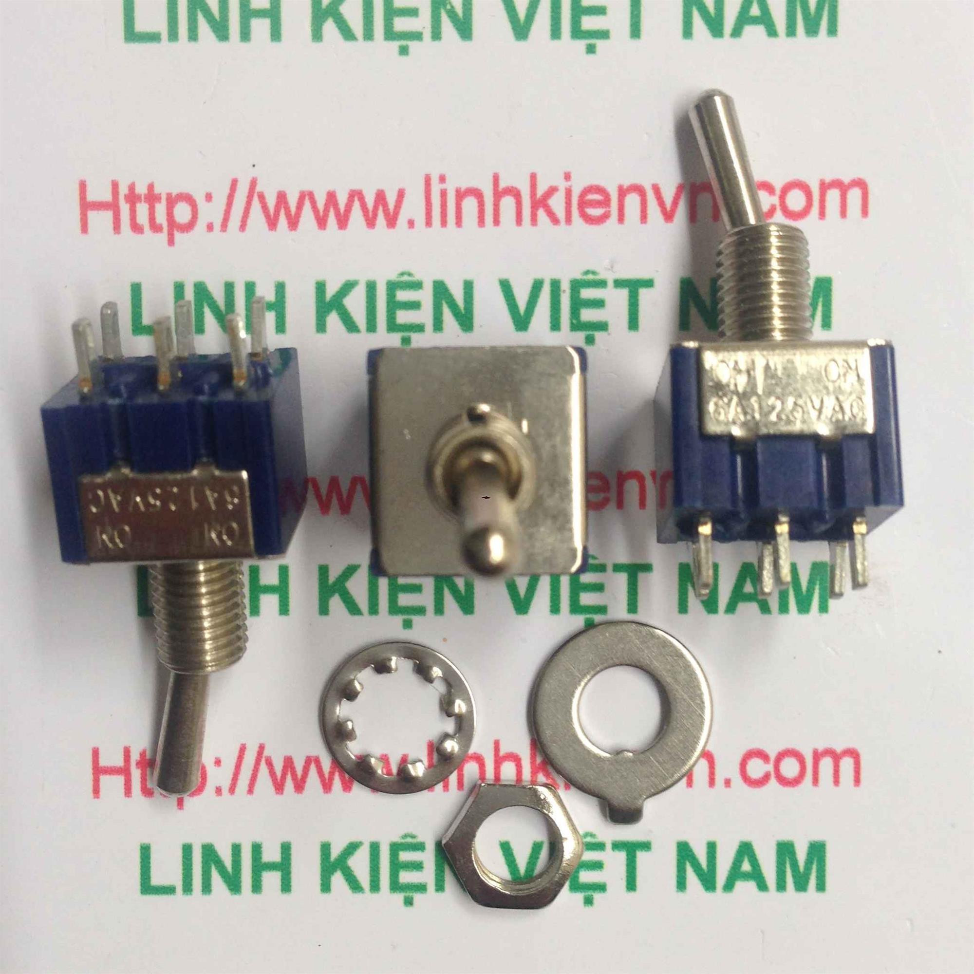 Công tắc gạt MTS-202 6A 125V 5mm 6 chân - D3H6