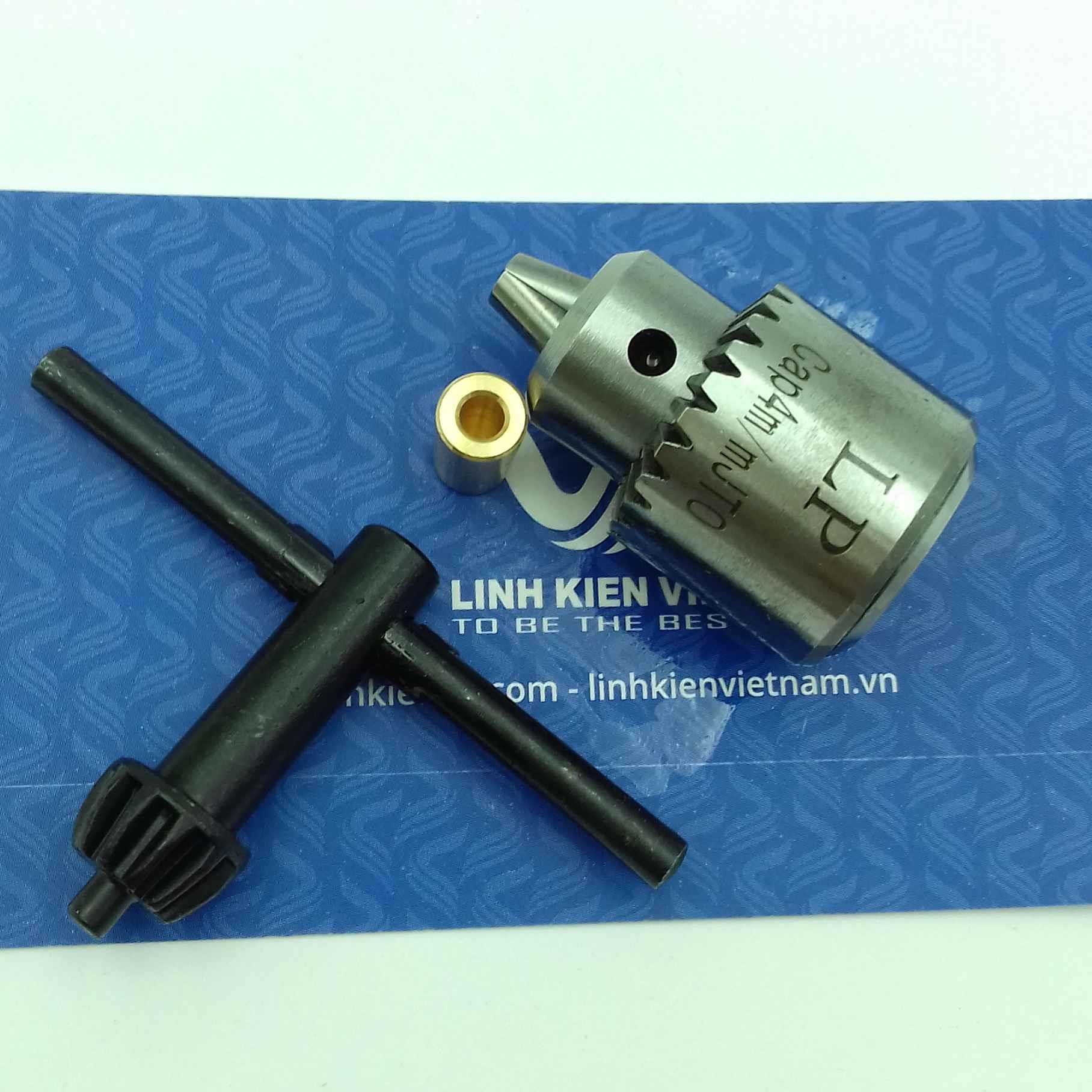 đầu kẹp mũi khoan 0.3-4mm full có đầu đồng cho motor 550 / trục giữ mũi khoang / Đầu khoan mạch 0.3-4mm - i6H17+i5H15