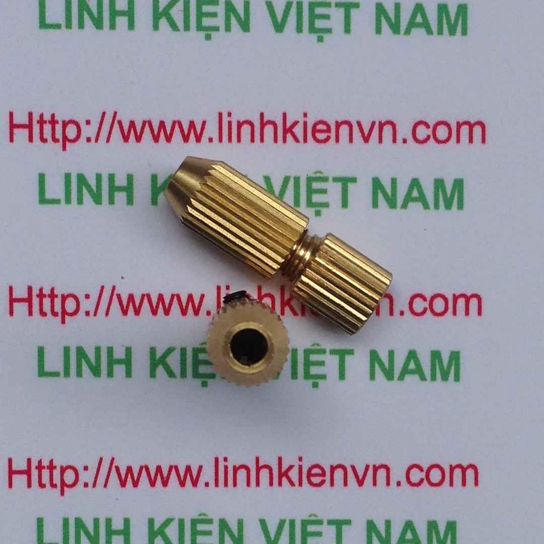 Đầu kẹp mũi khoan 0.6-1.5mm trục 2.3mm / Đầu khoan mạch / Chấu giữ mũi khoan cho động cơ 380 395 - B7H21