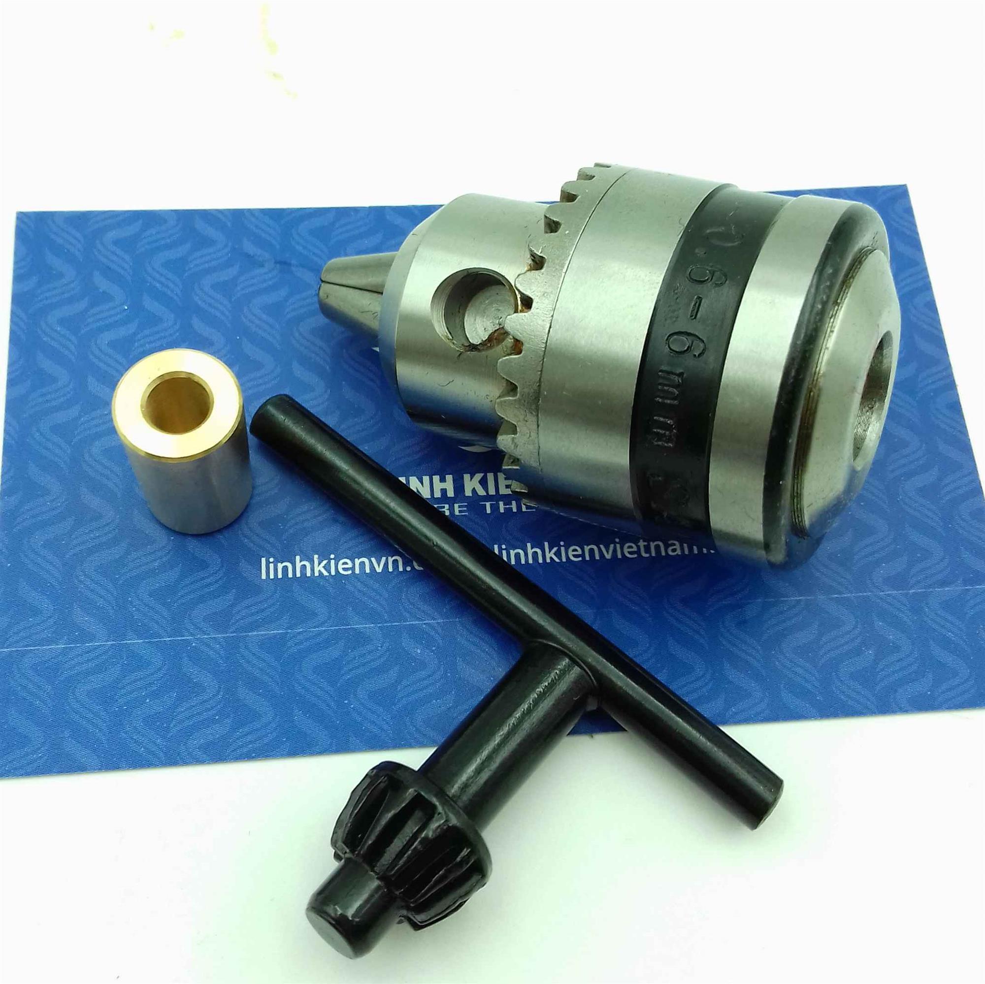 đầu kẹp mũi khoan 0.6-6mm full có đầu đồng cho động cơ 550 / trục giữ mũi khoan / Đầu khoan mạch 0.6-6mm - i5H13