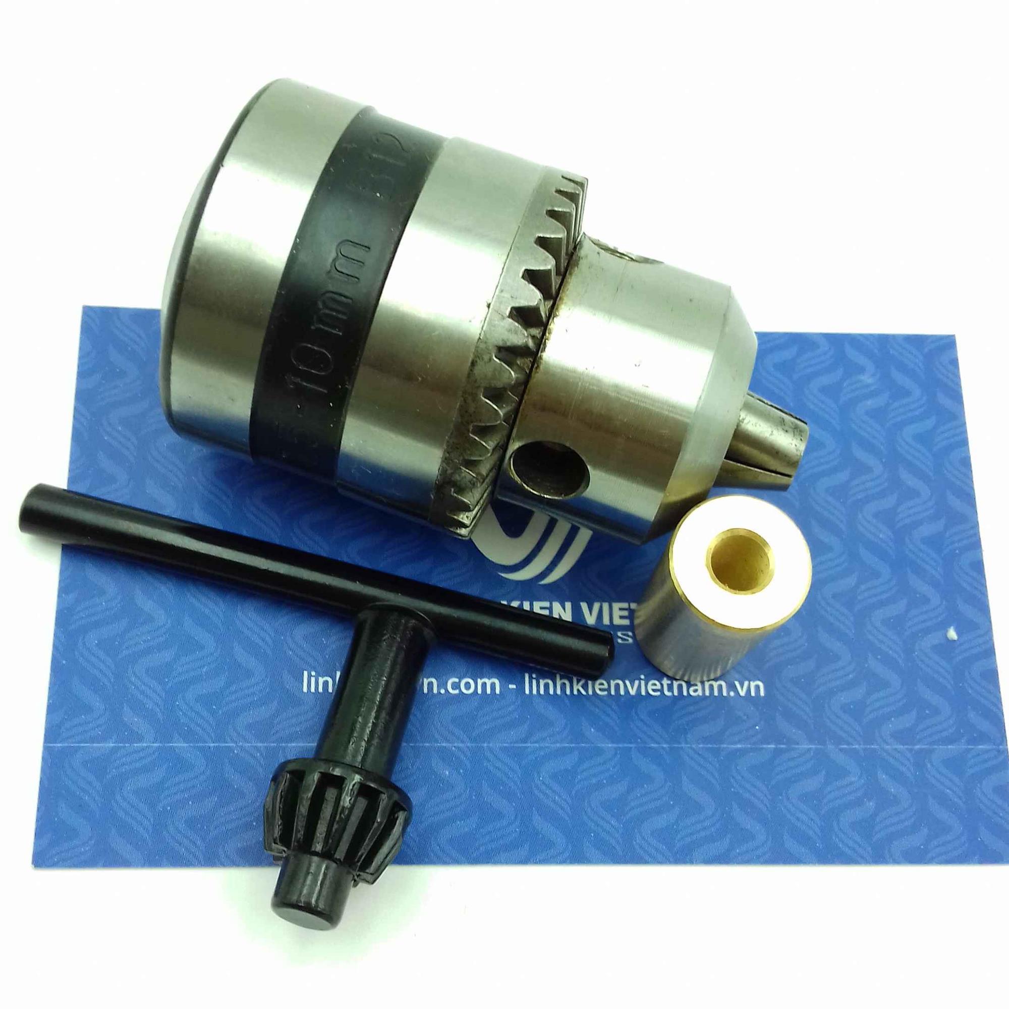 đầu kẹp mũi khoan 1.5-10mm Full có đầu đồng / Đầu khoan mạch 1.5-10mm / Đầu kẹp mũi khoan cho động cơ 775 - K5H1+K5H2