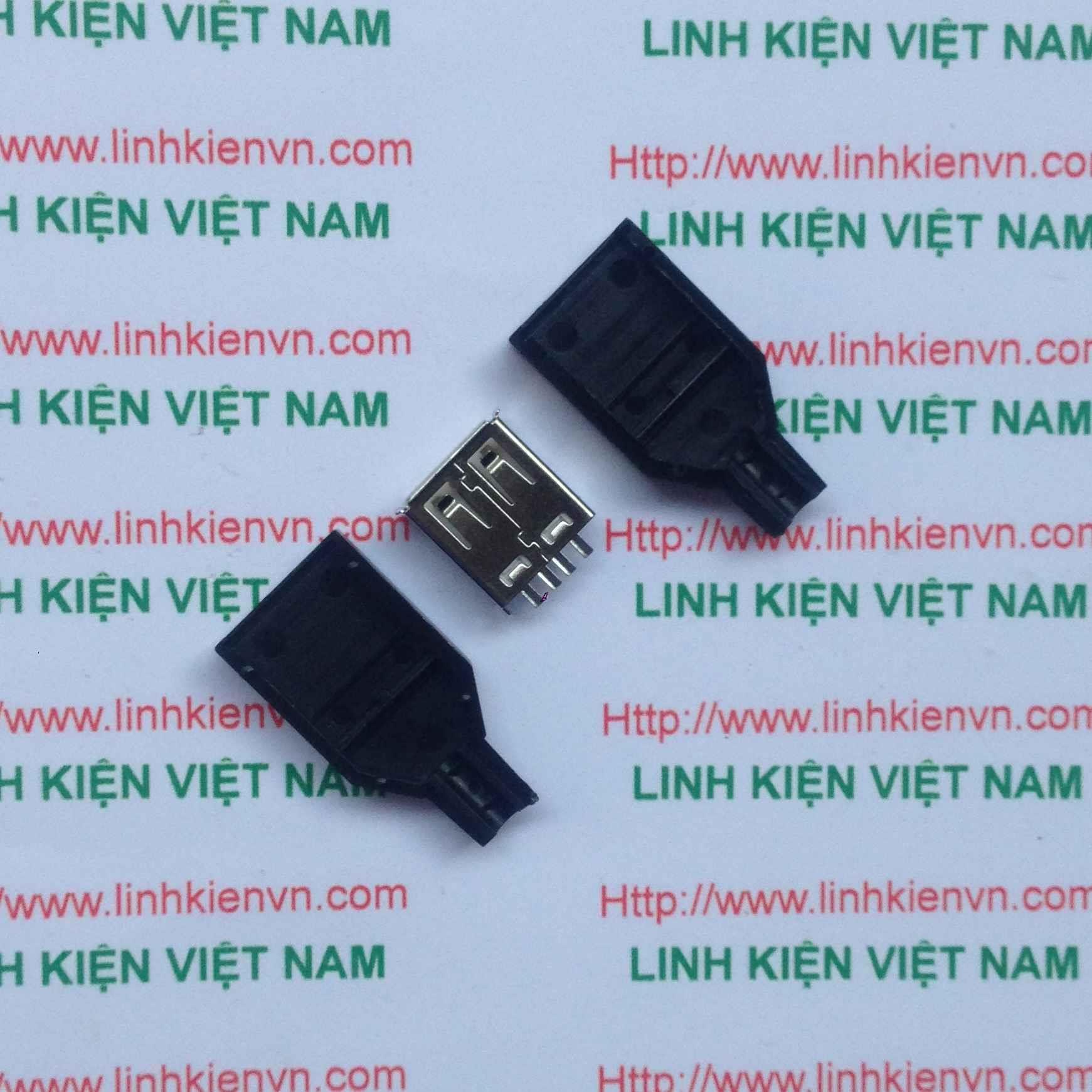 Đầu USB A cái Có Vỏ / Jack usb cái có vỏ - G5H7