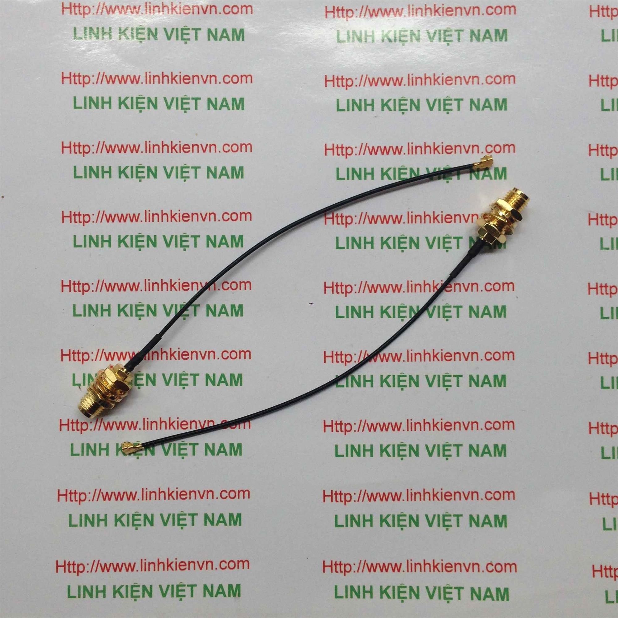 Dây chuyển Anten IPEX sang SMA cái 10cm - F4H13