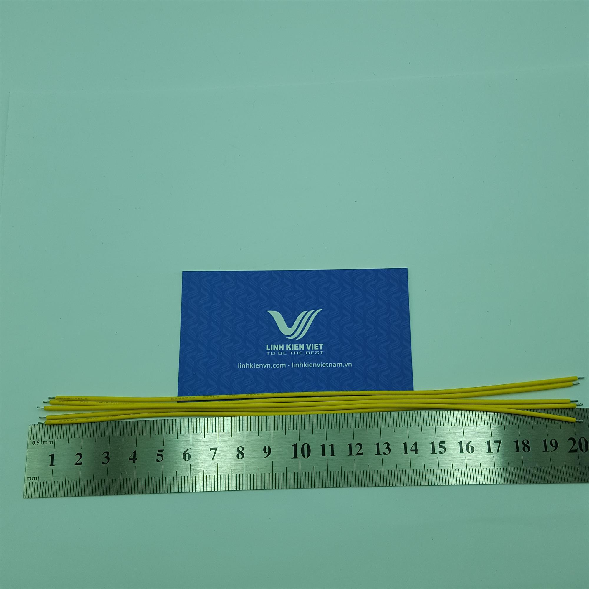 Dây điện AWG22 20cm màu vàng - 10 chiếc