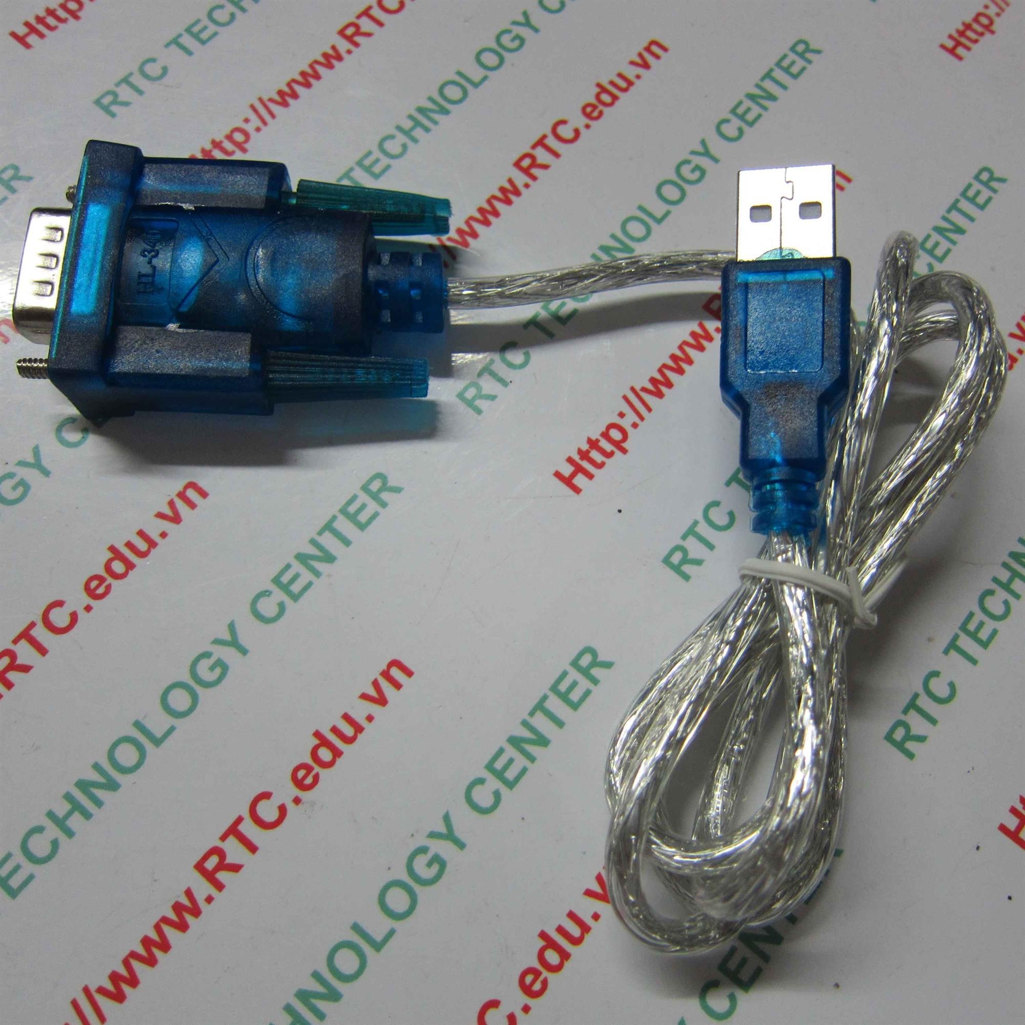 DÂY USB TO COM HL340 / Dây nạp PLC board DÂY USB TO COM CH340 - KHO