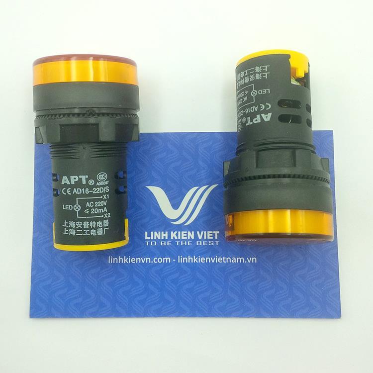 Đèn led 220VAC AD16-22DS Vàng - K5H18