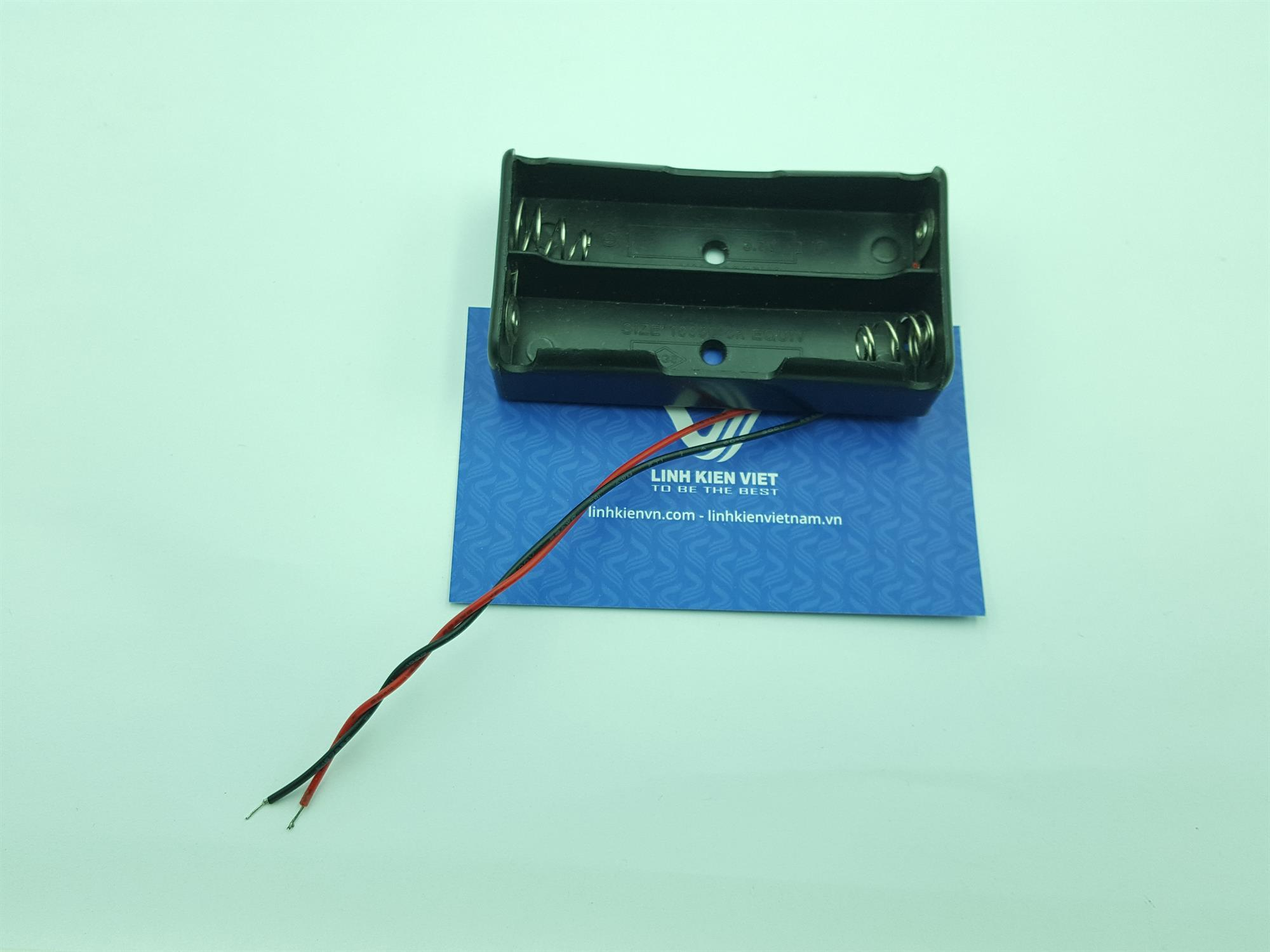 Đế PIN hai cell / khay pin 2 cell / Đế pin CR-CMOS / khay đựng pin 18650 / Đế đựng pin 18650 - G8H5